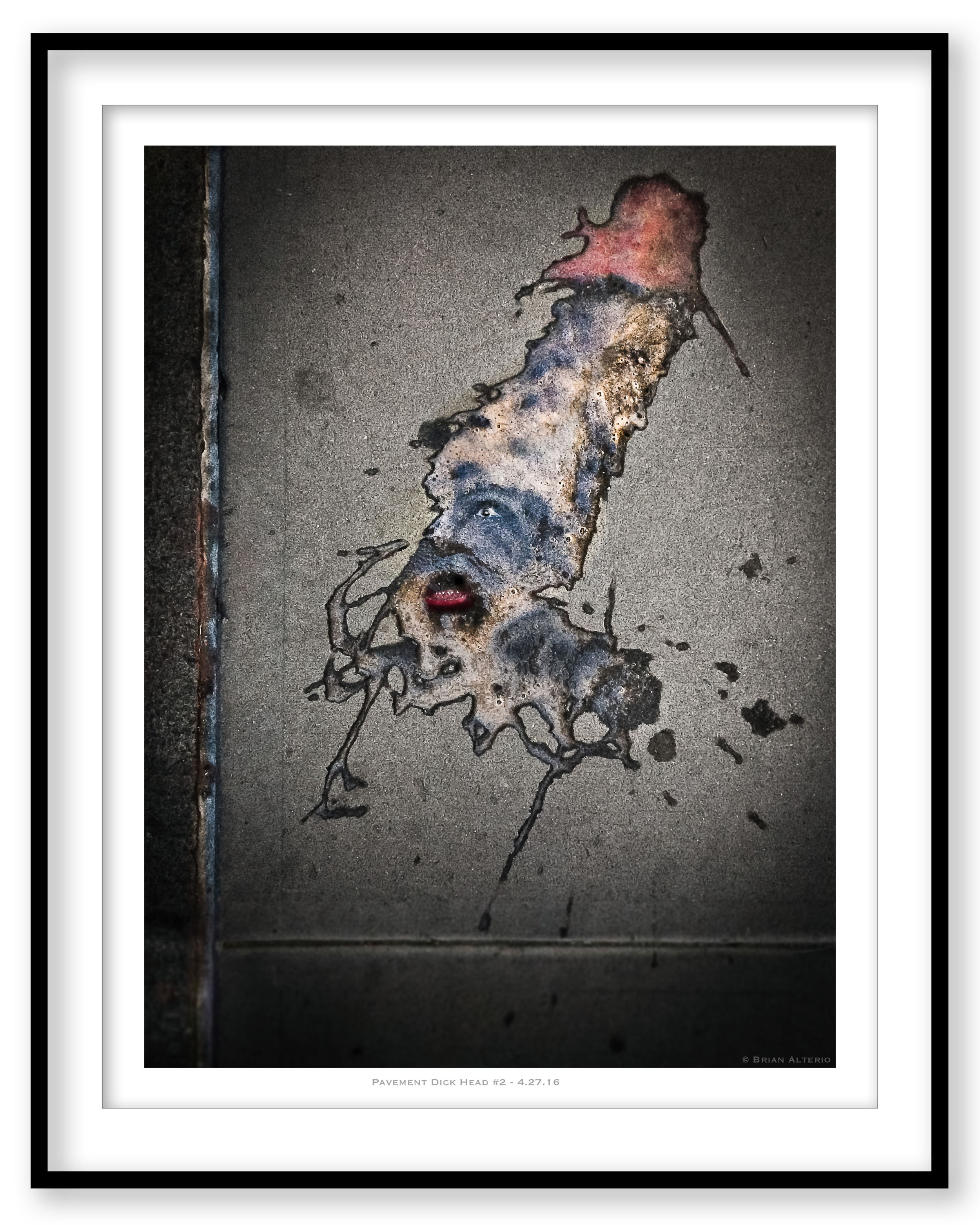 Pavement Dick Head #2 - 4.27.16 - Framed.jpg