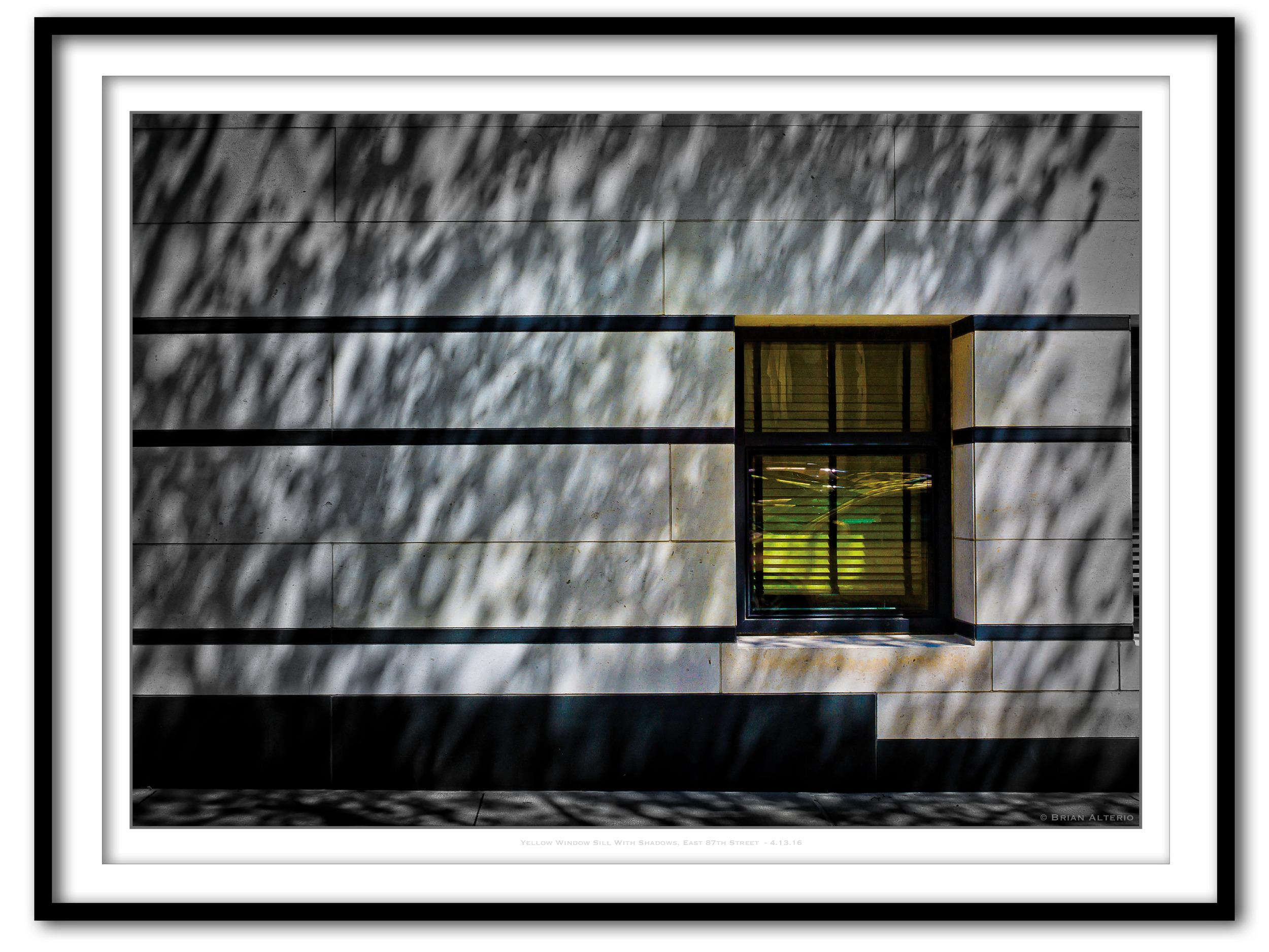 Yellow Window Sill With Shadows, East 87th Street  - 4.13.16 - Framed.jpg