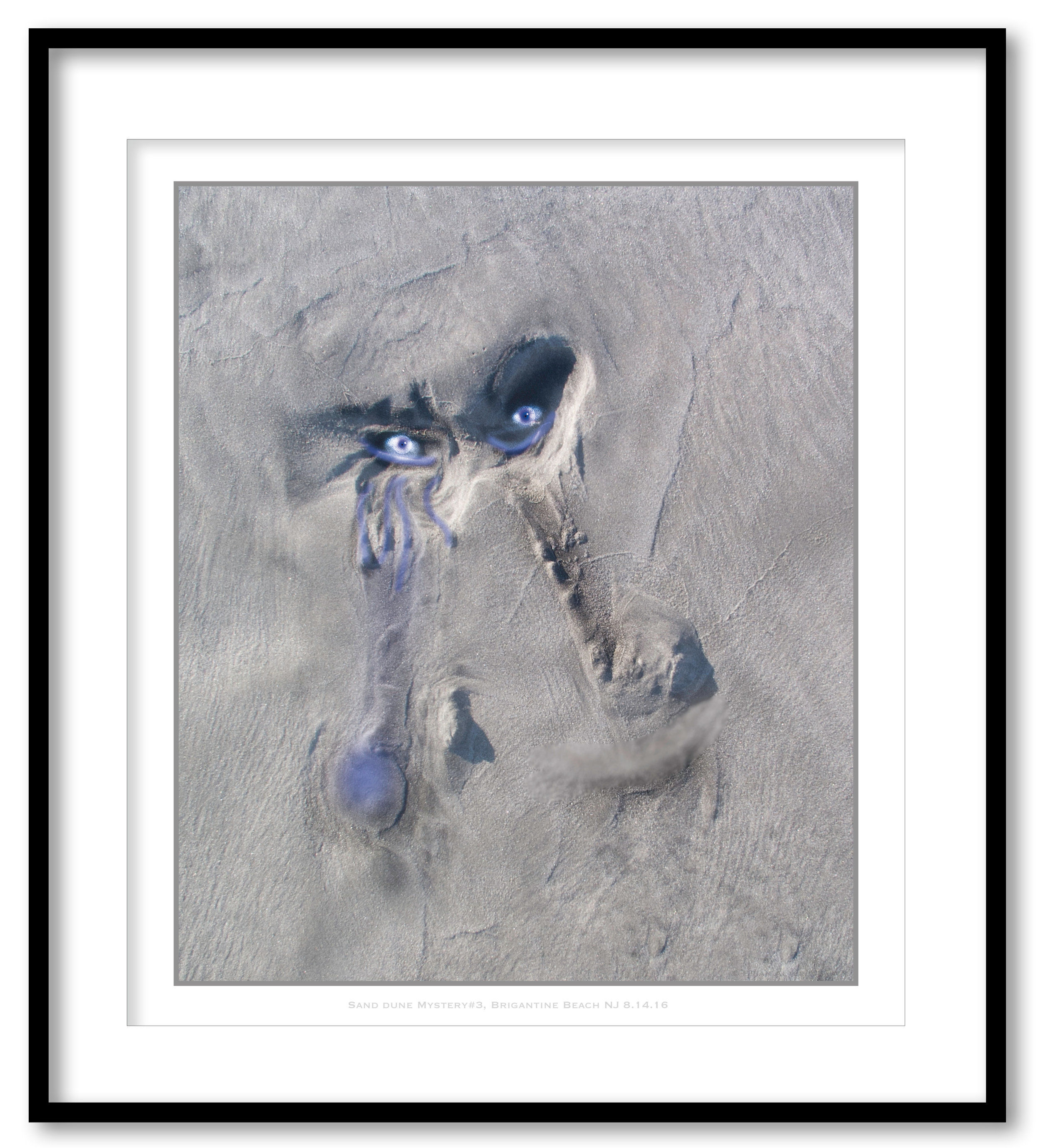 Sand Dune Mystery#3, Brigantine Beach NJ 8.14.16 -Framed.jpg