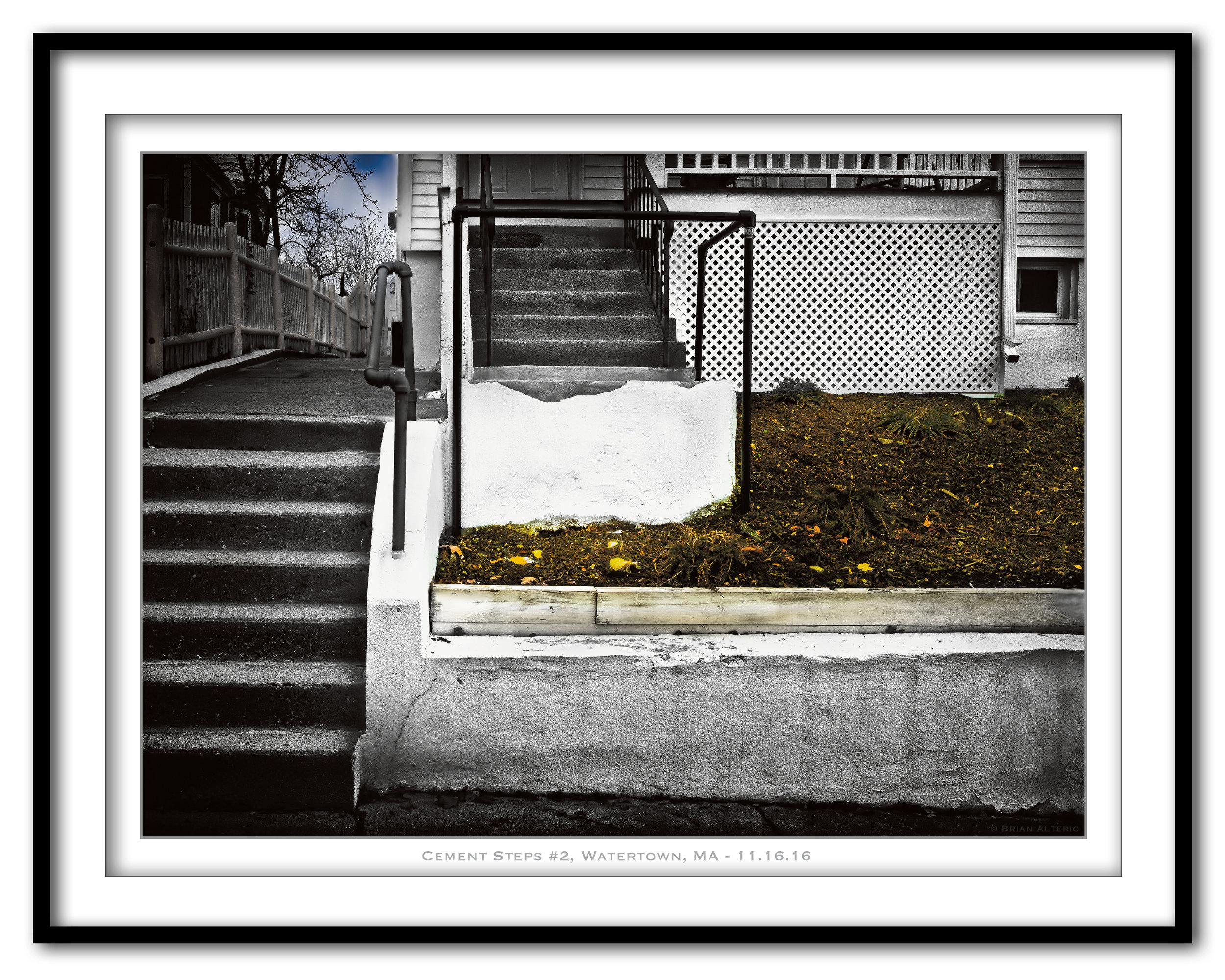 Cement Steps #2, Watertown, MA - 11.16.16 - Framed.jpg