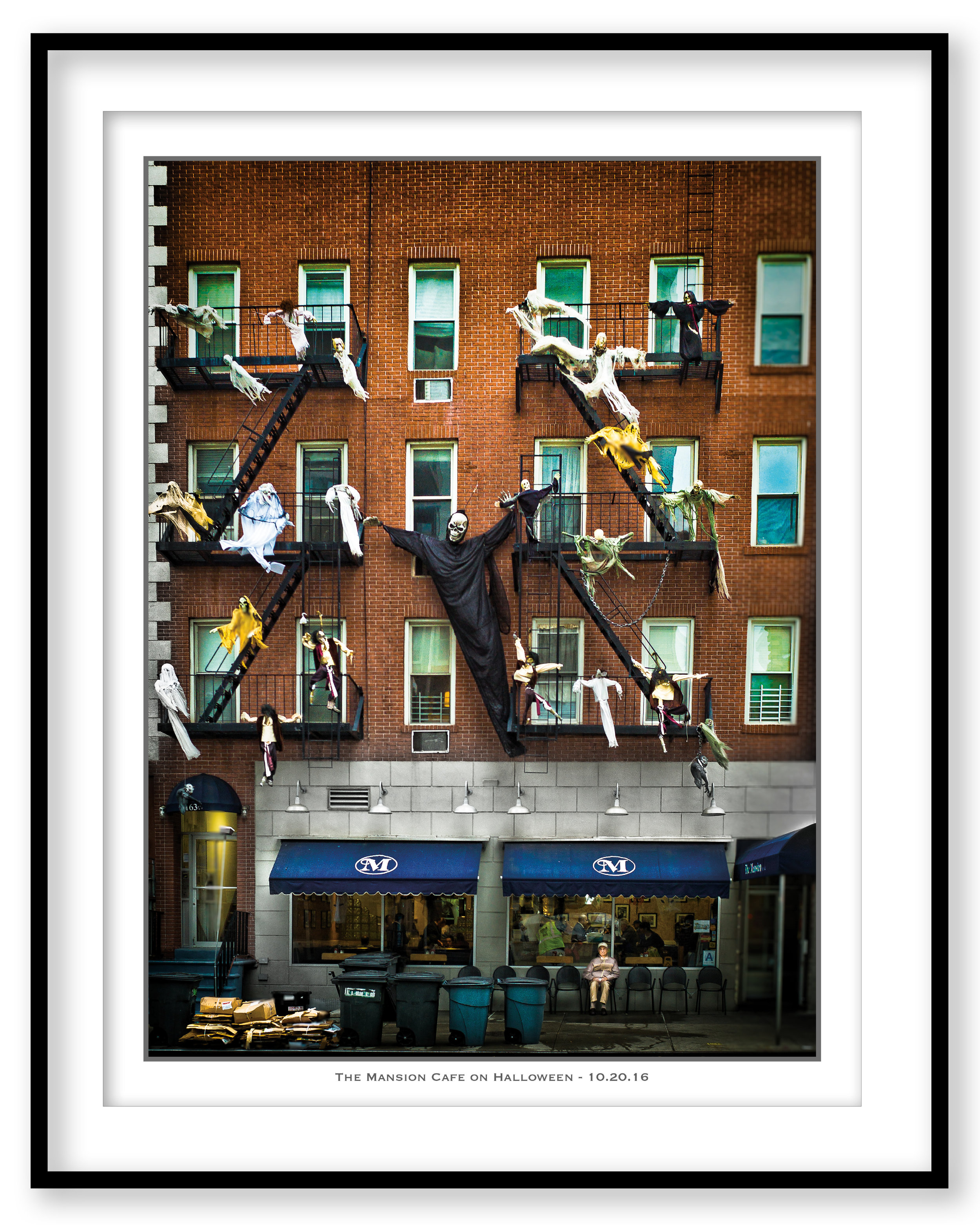 The Mansion Cafe on Halloween - 10.20.16 - Framed.jpg