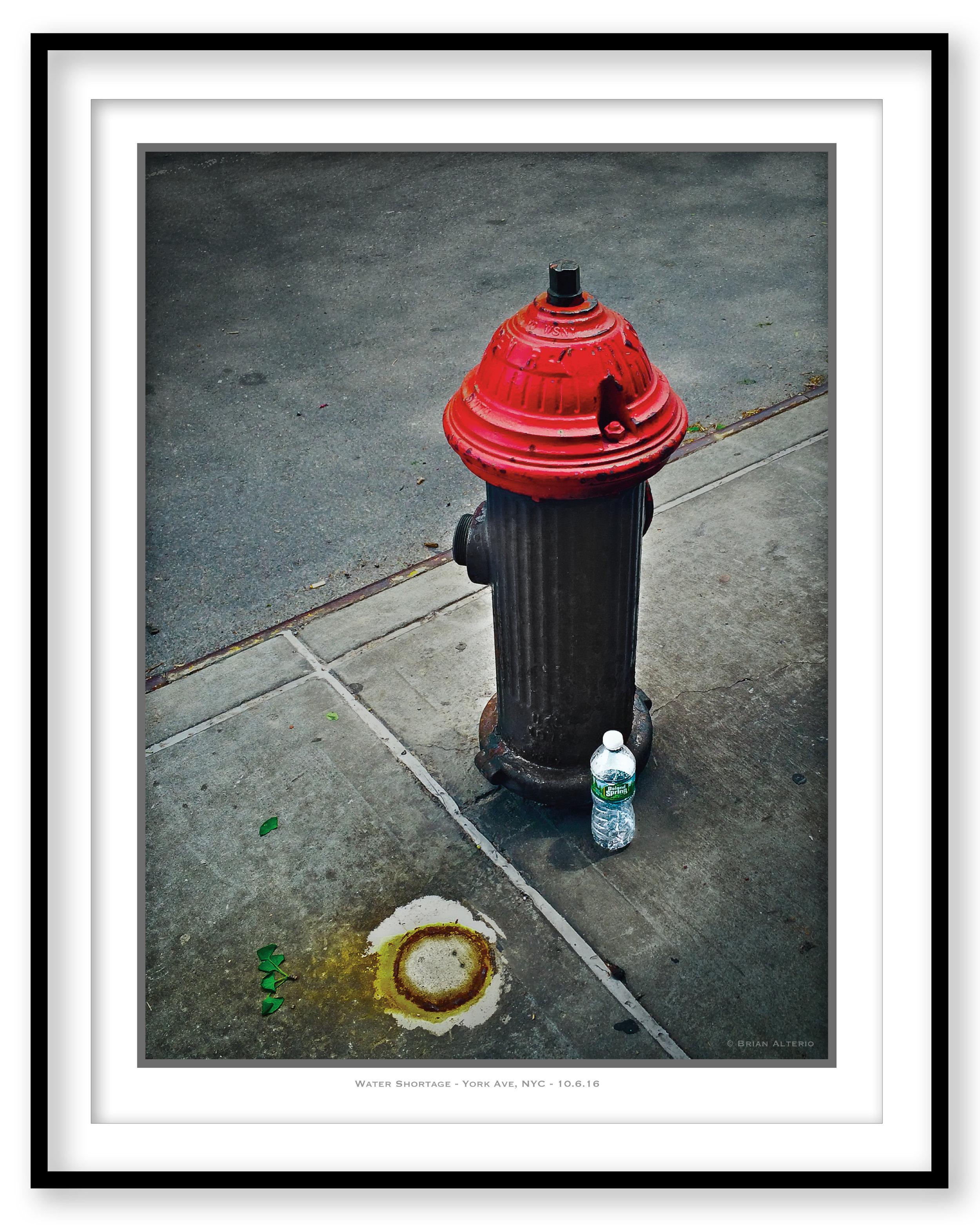 Water Shortage - York Ave, NYC - 10.6.16 - Framed.jpg