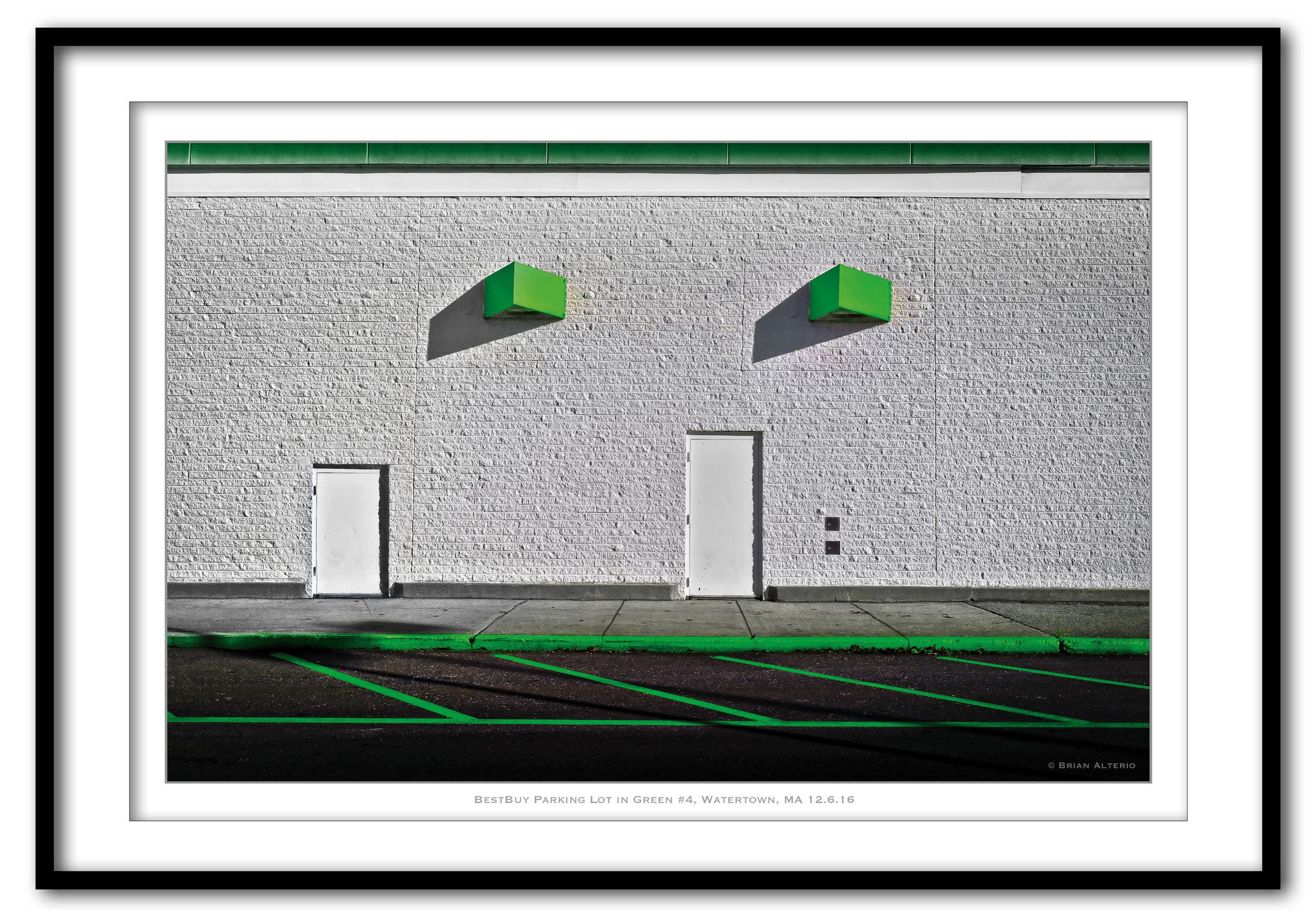 BestBuy Parking Lot in Green #4, Watertown, MA 12.6.16 - Framed.jpg