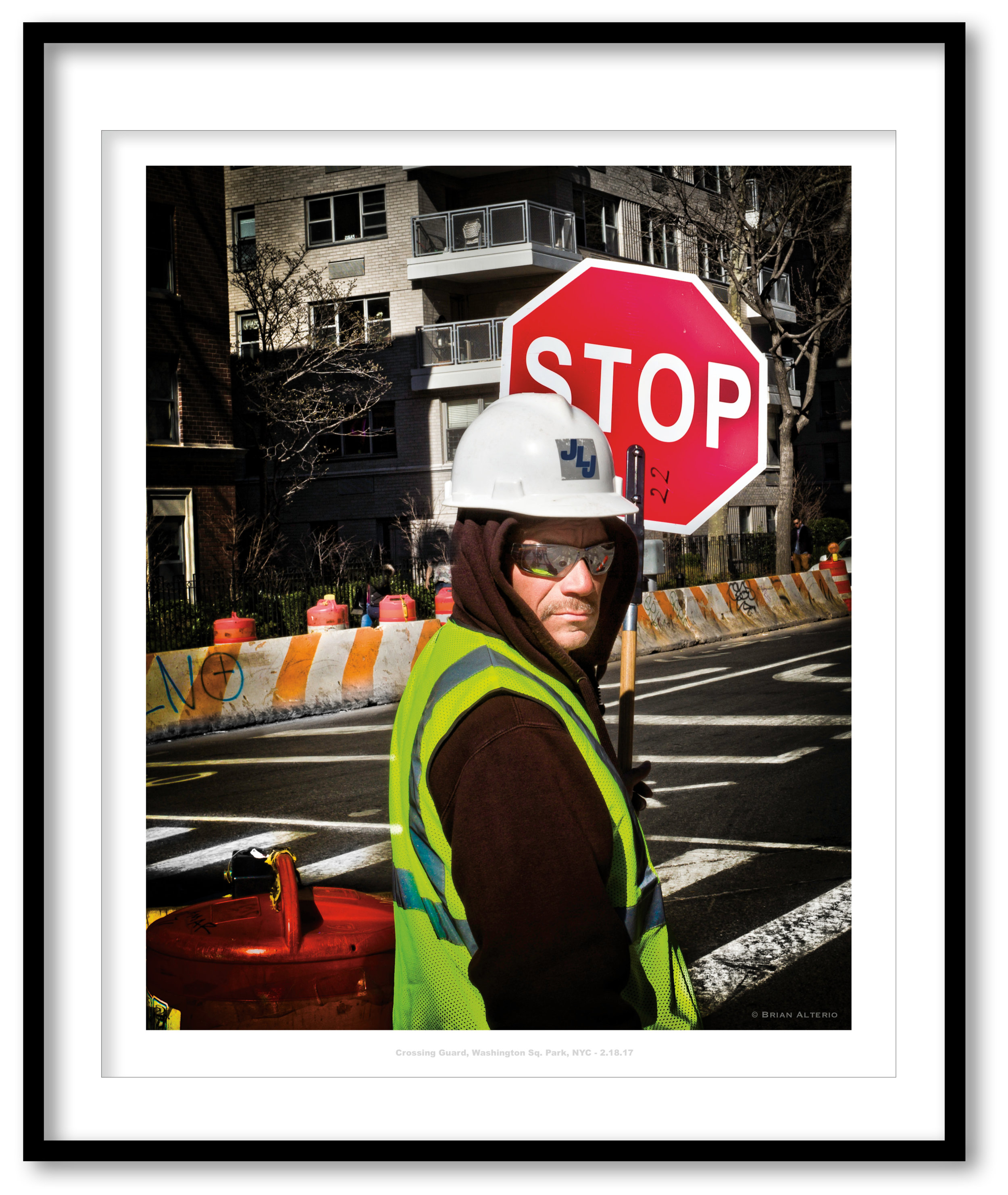 Crossing Guard, Washington Sq. Park, NYC - 2.18.17 - Framed.jpg