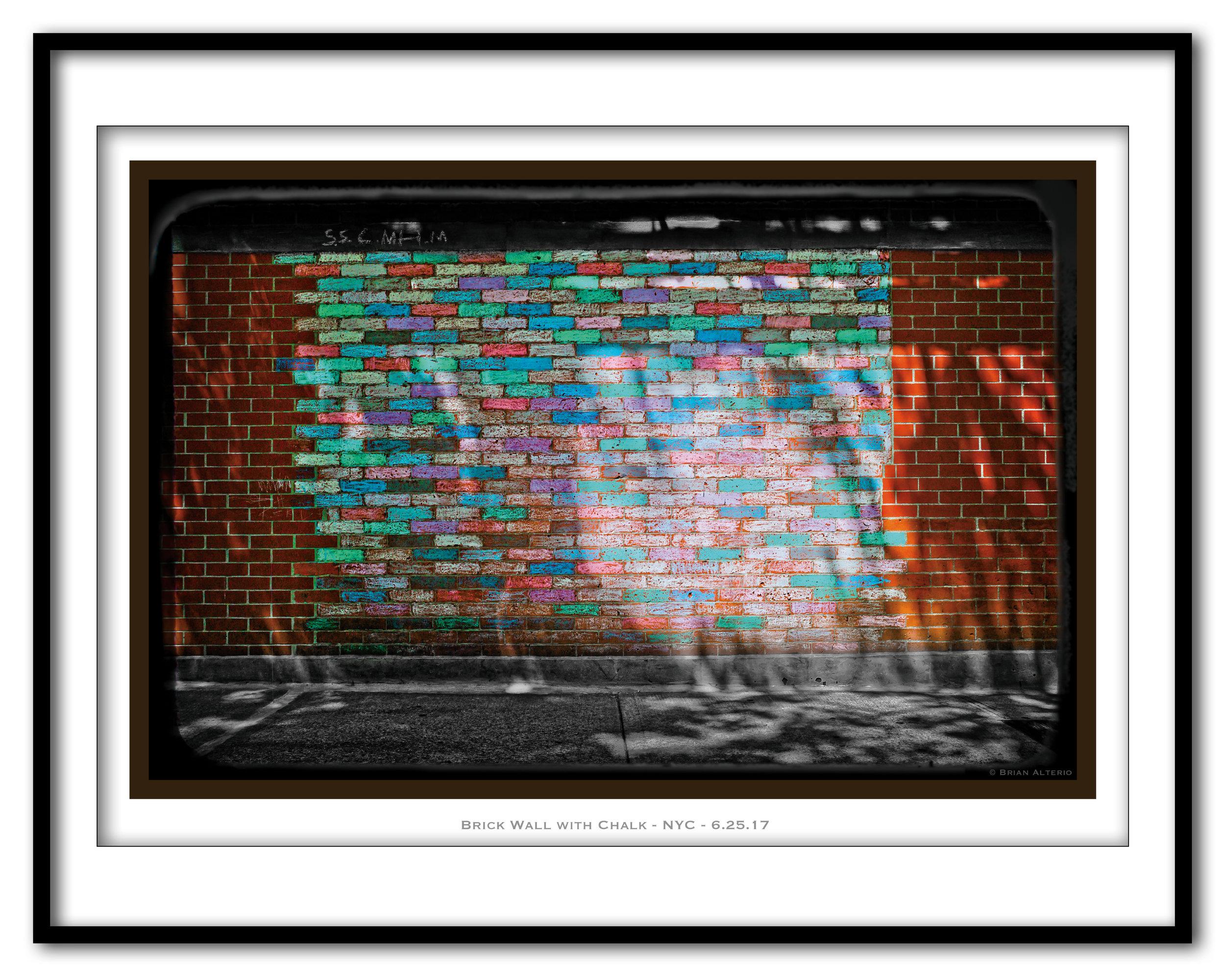 Brick Wall with Chalk - NYC 6.25.17 - Framed.jpg