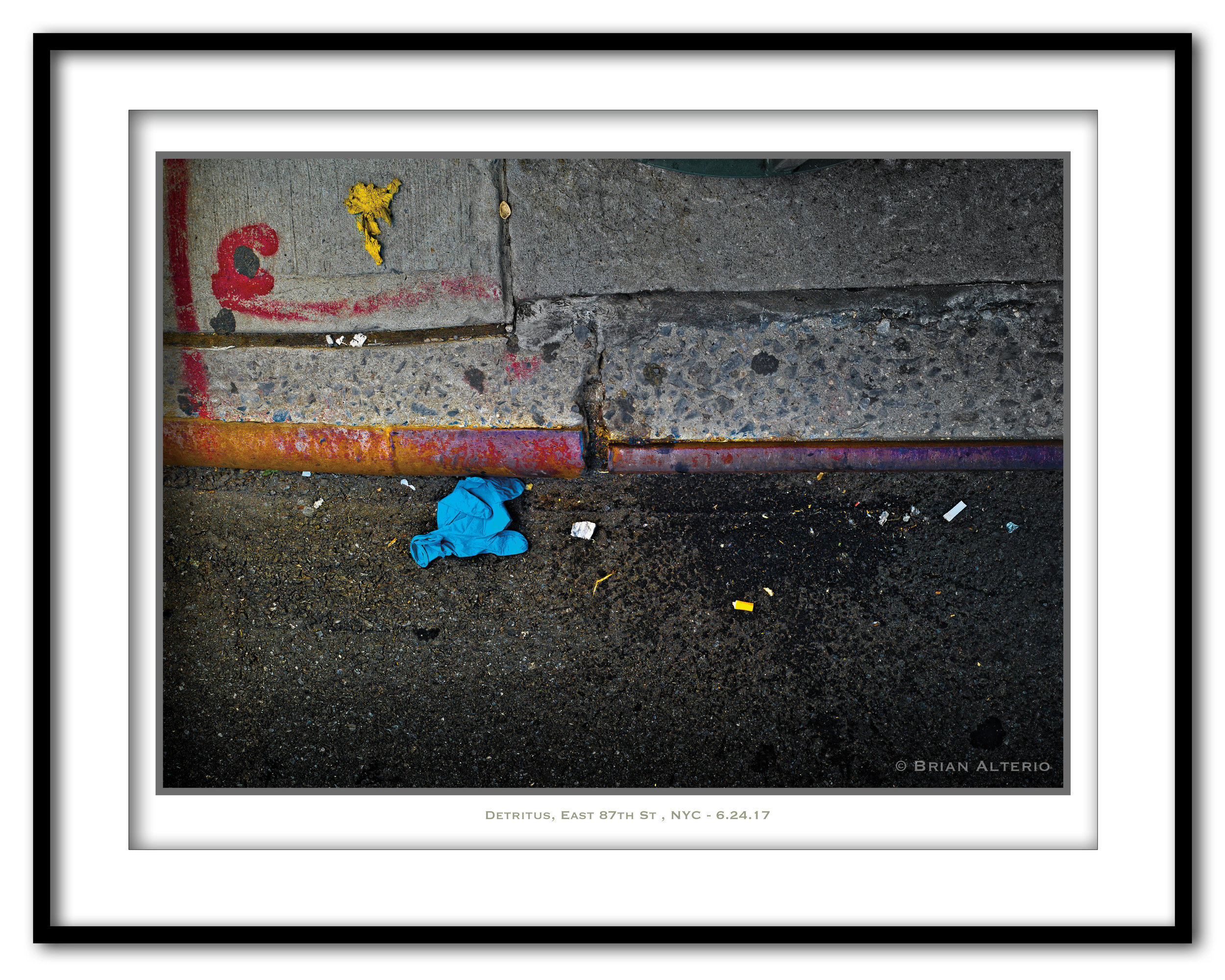 Detritus, East 87th St , NYC - 6.24.17- Framed.jpg