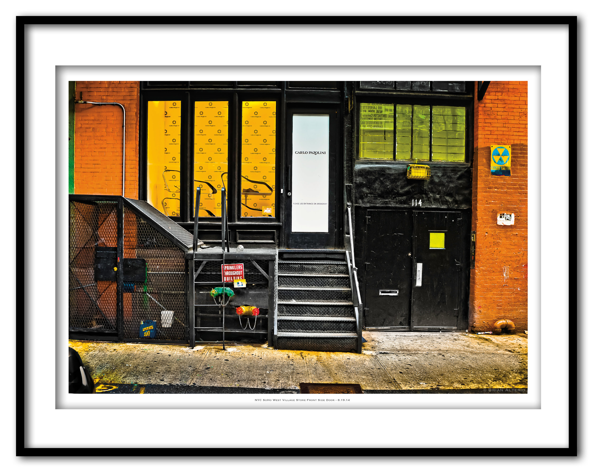 NYC SoHo West Village Store Front Side Door - 8.19.14 - Framed.jpg