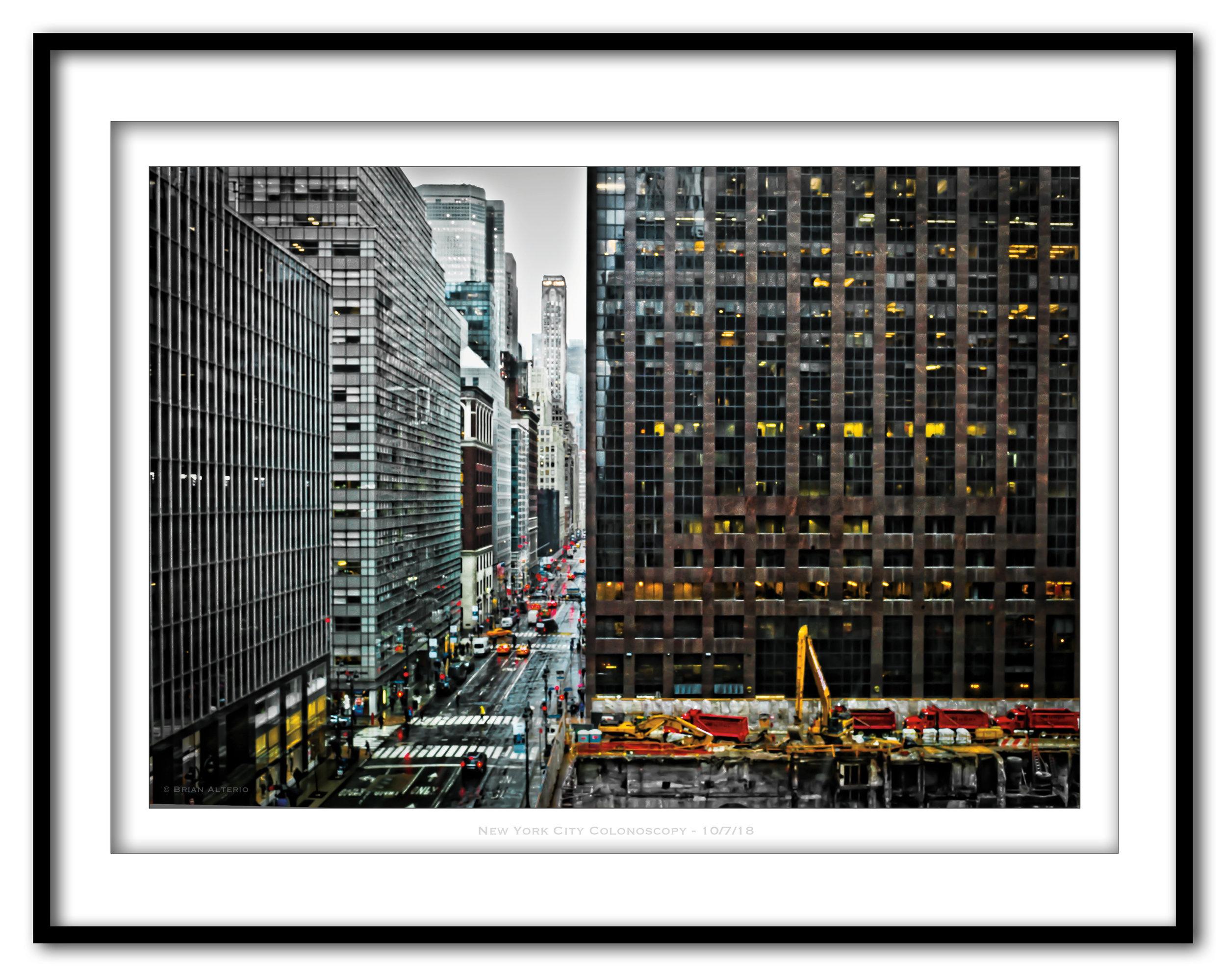 New York City Colonoscopy - 10-7-18 -Framed.jpg