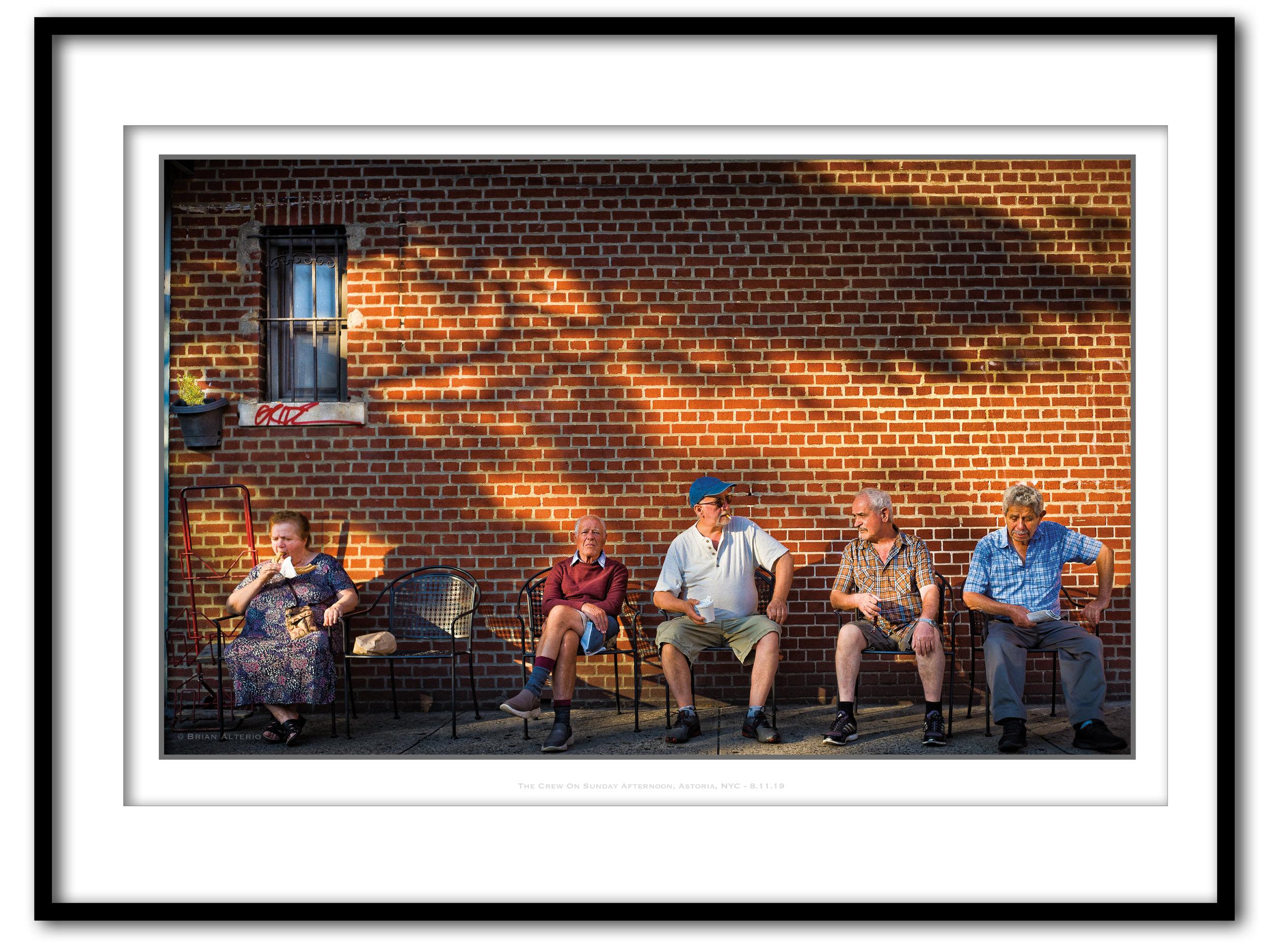 The Crew On Sunday Afternoon, Astoria, NYC - 8.11.19- Framed.jpg