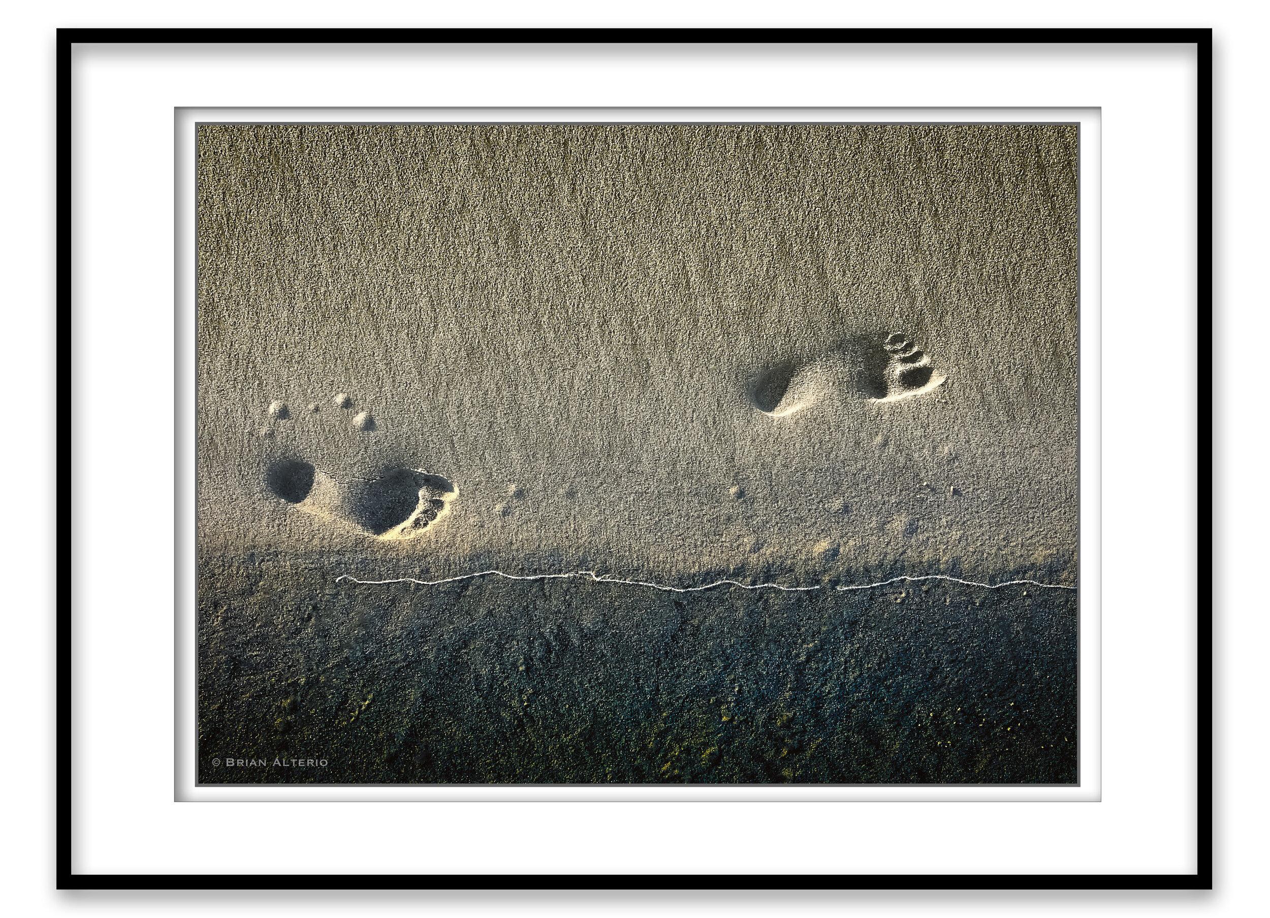 A Morning Walk On Brigantine Beach  - 9.29.19 Framed.jpg