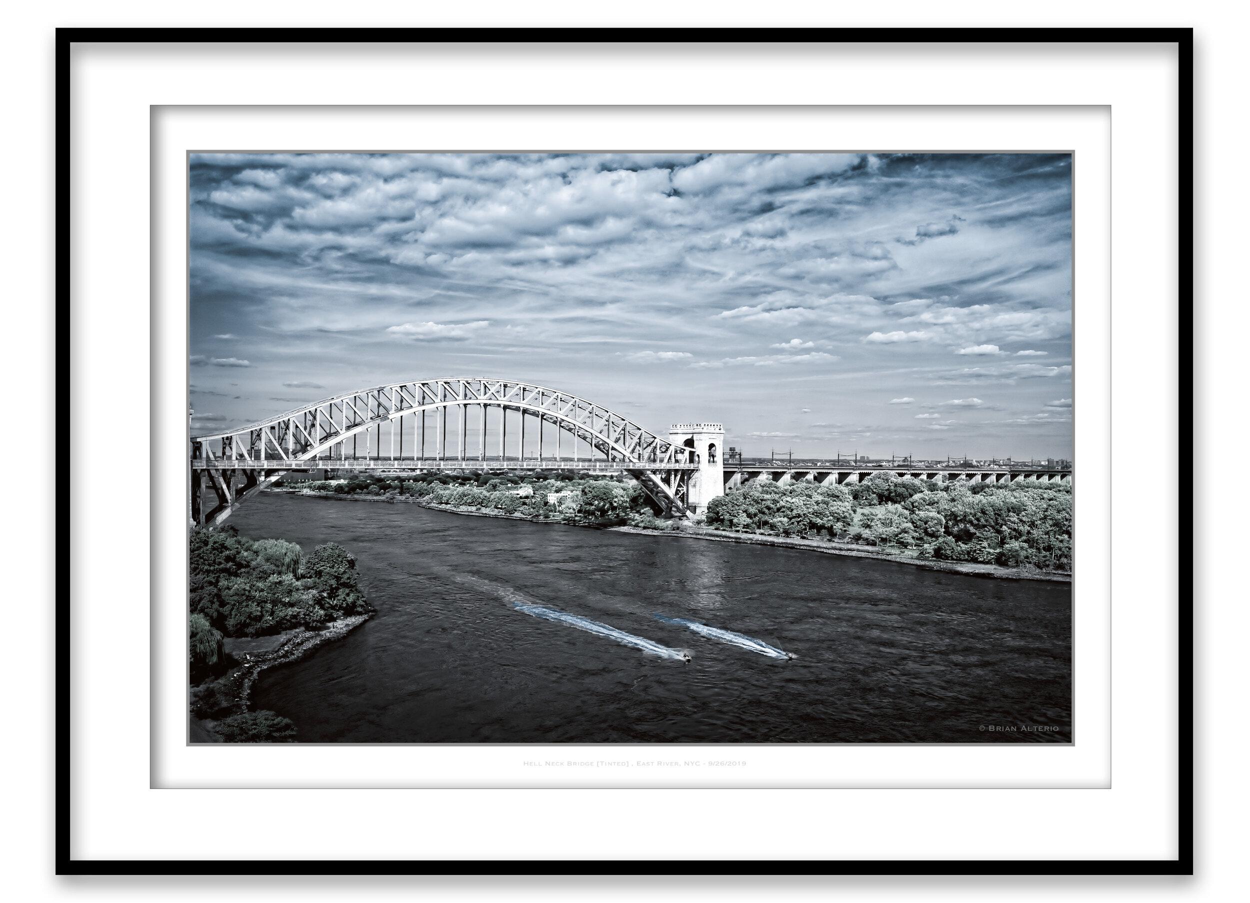 Hell Neck Bridge [Tinted] , East River, NYC - 9-26-2019 Framed.jpg