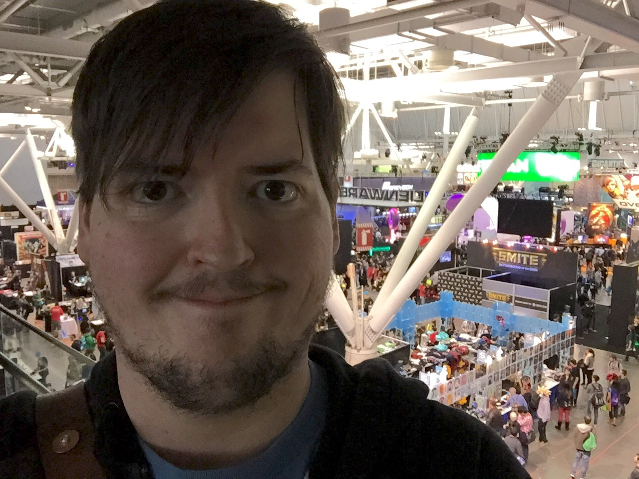 It's a huge show, there is only about third of it behind me