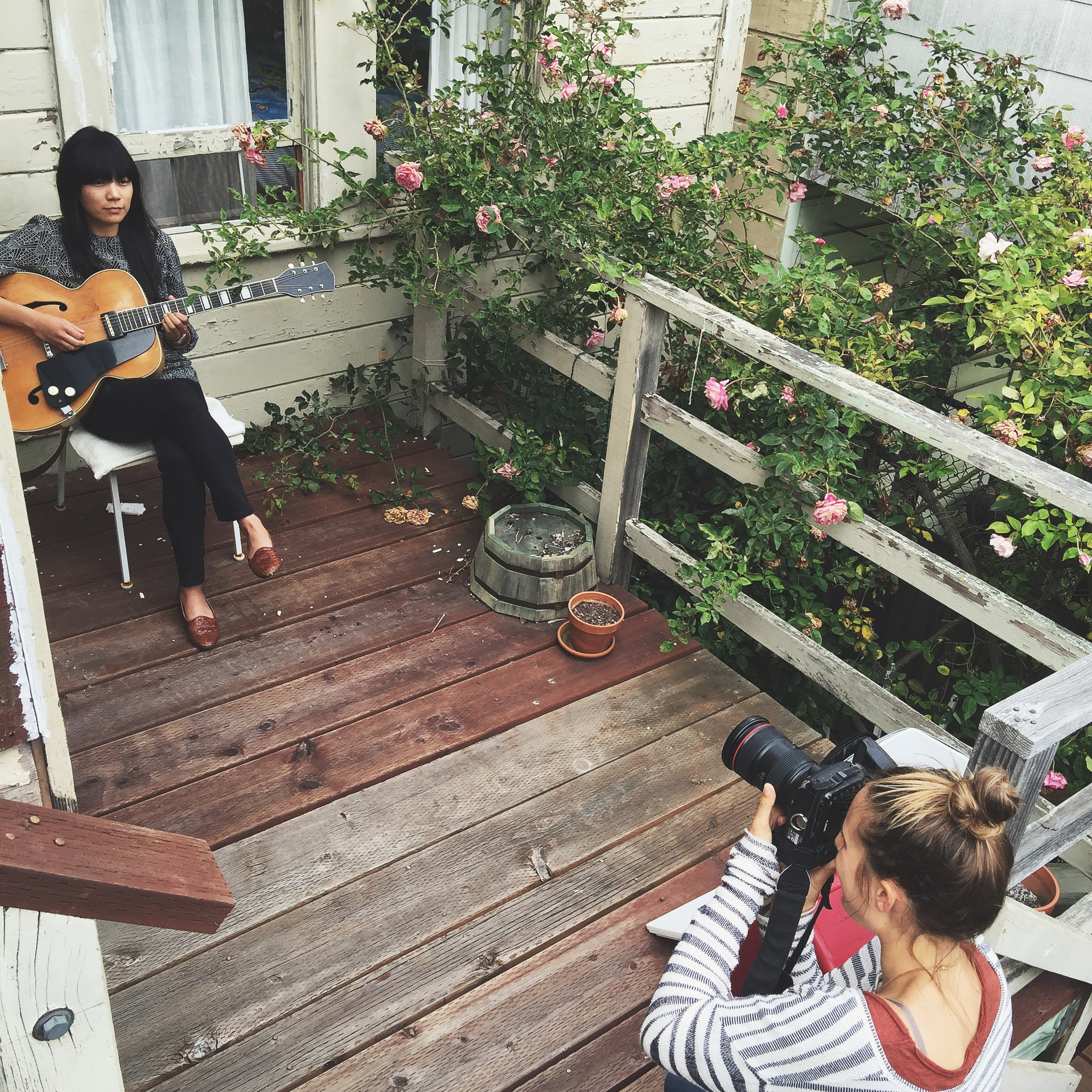 Me photographing Thao of Thao and The Get Down in SF