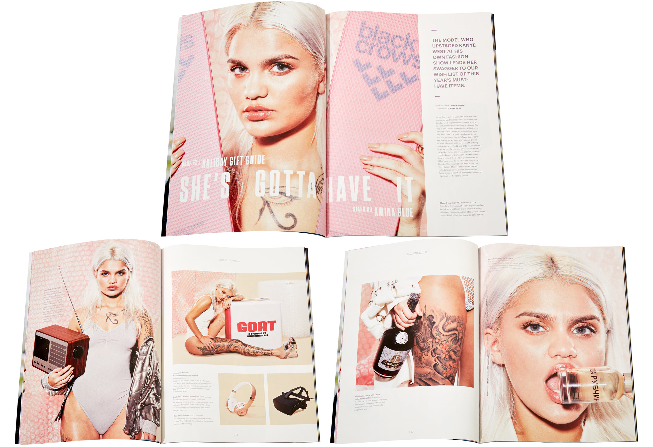 Amina Blue Holiday Gift Guide - Complex - Dec 2016 / Jan 2017