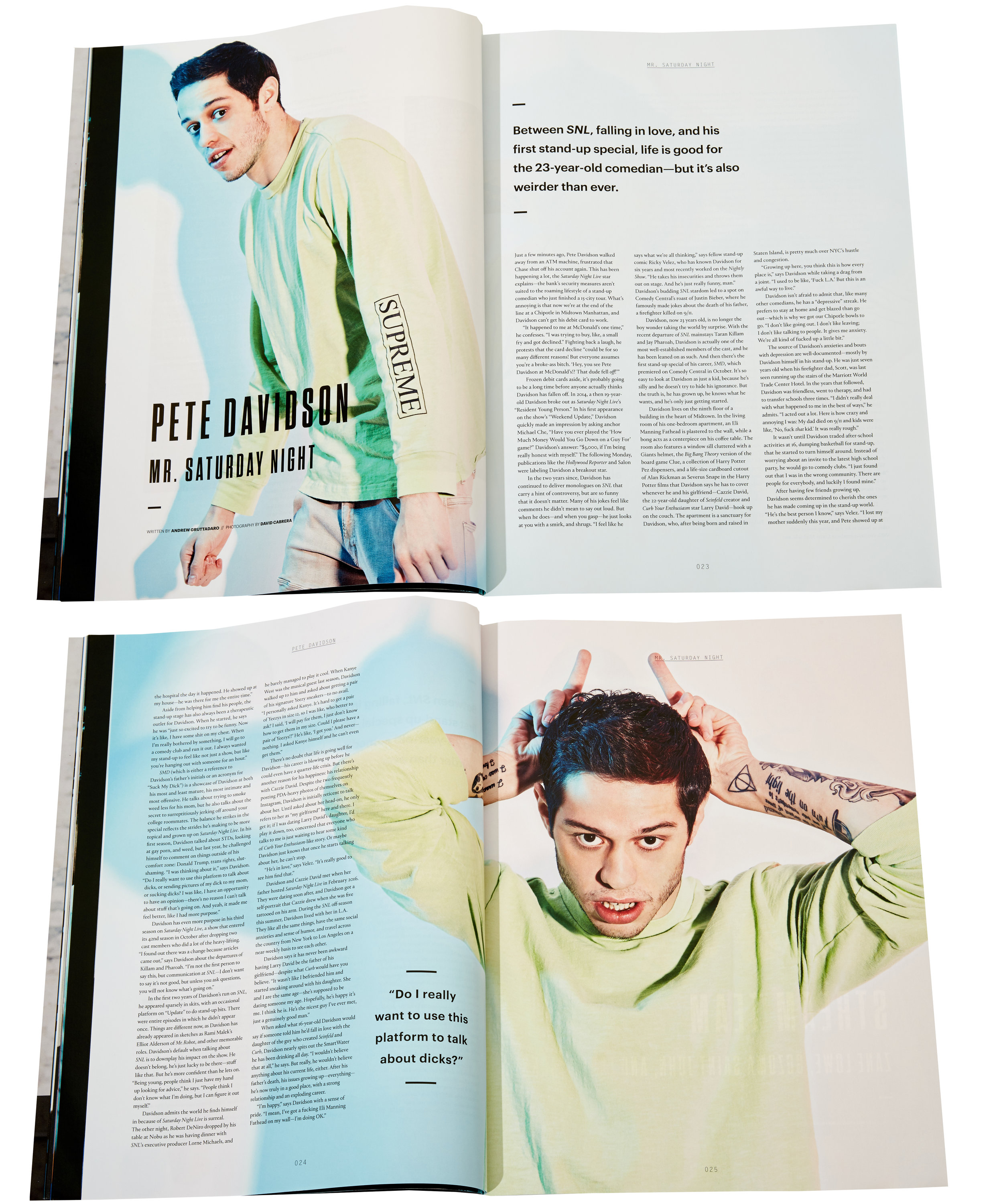 Pete Davidson - Complex - Dec 2016 / Jan 2017