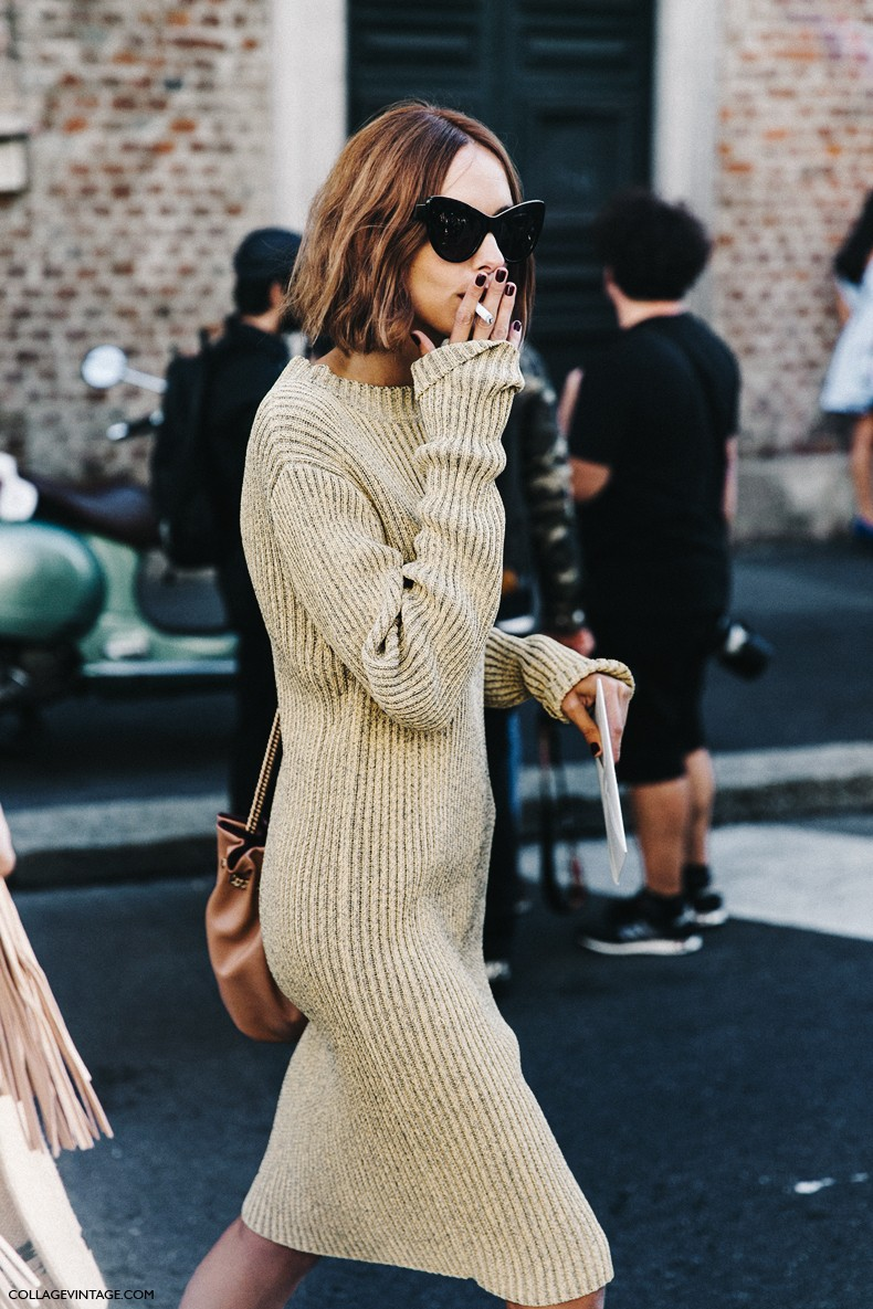 MFW-Milan_Fashion_Week-Spring_Summer_2016-Street_Style-Say_Cheese-Candela_Novembre-Knitted_Dress-Golden_Shoes-2-790x1185.jpg
