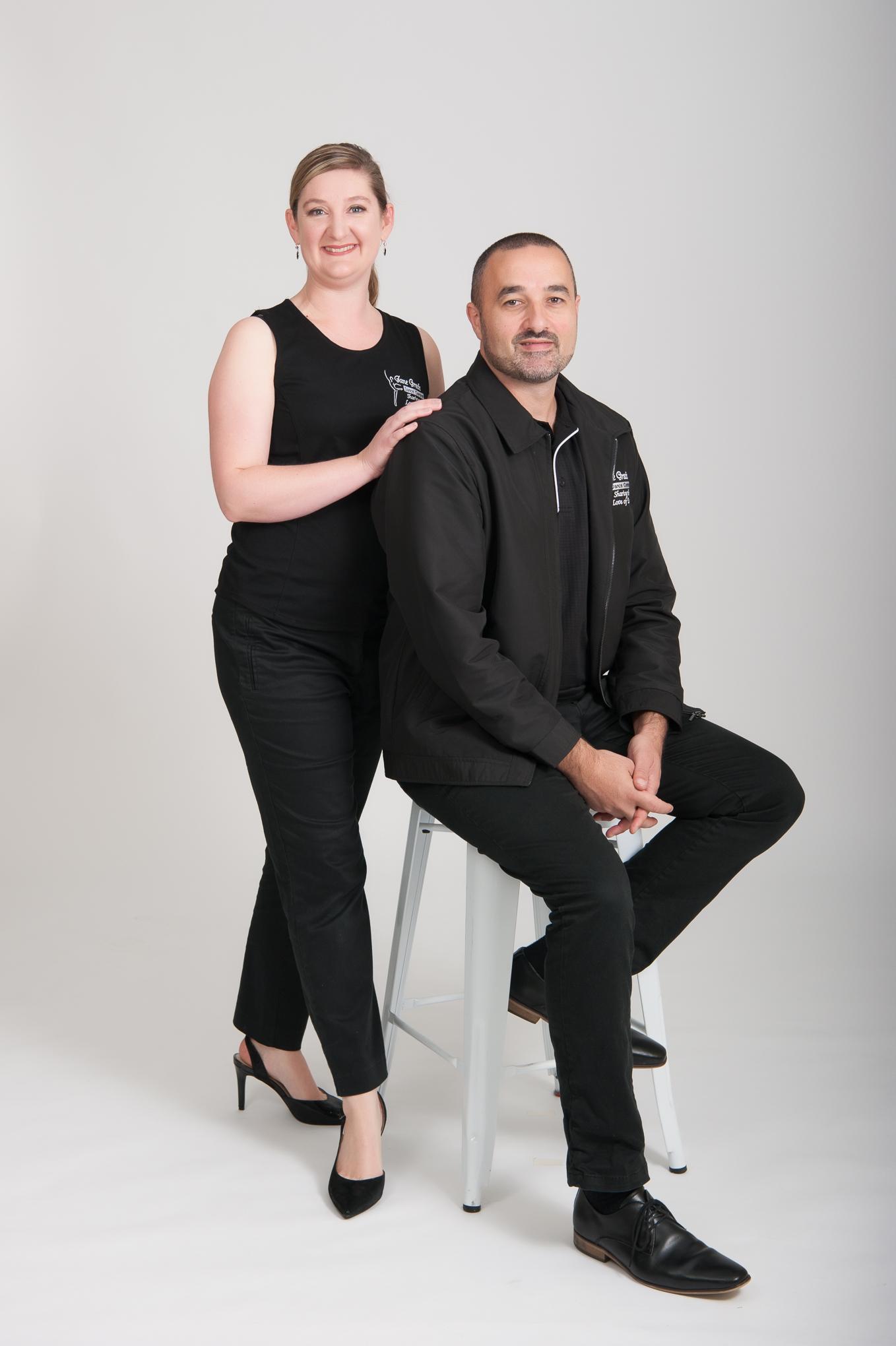 Full length head to toe studio business portrait
