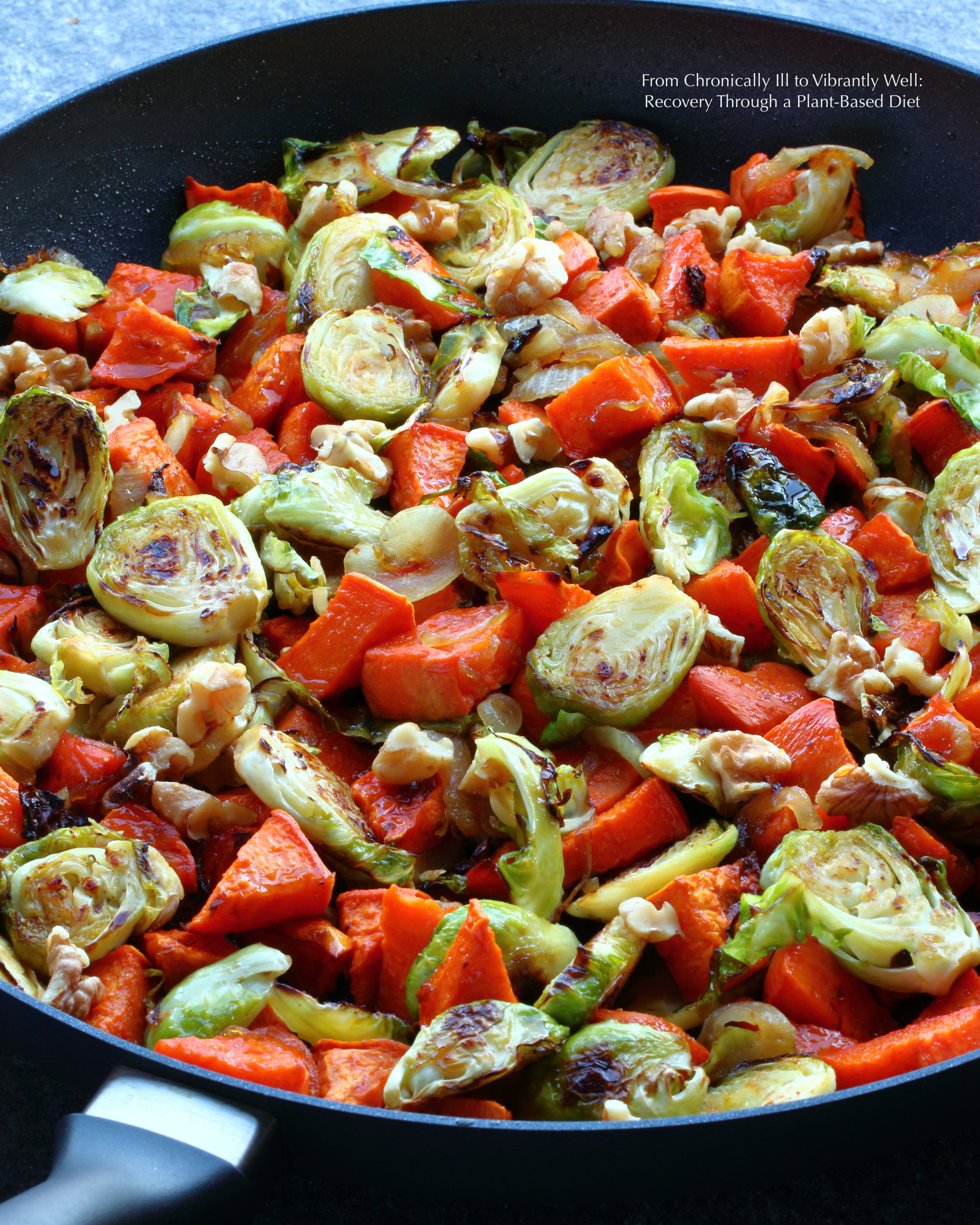 Brussels Sprouts Skillet with Yams