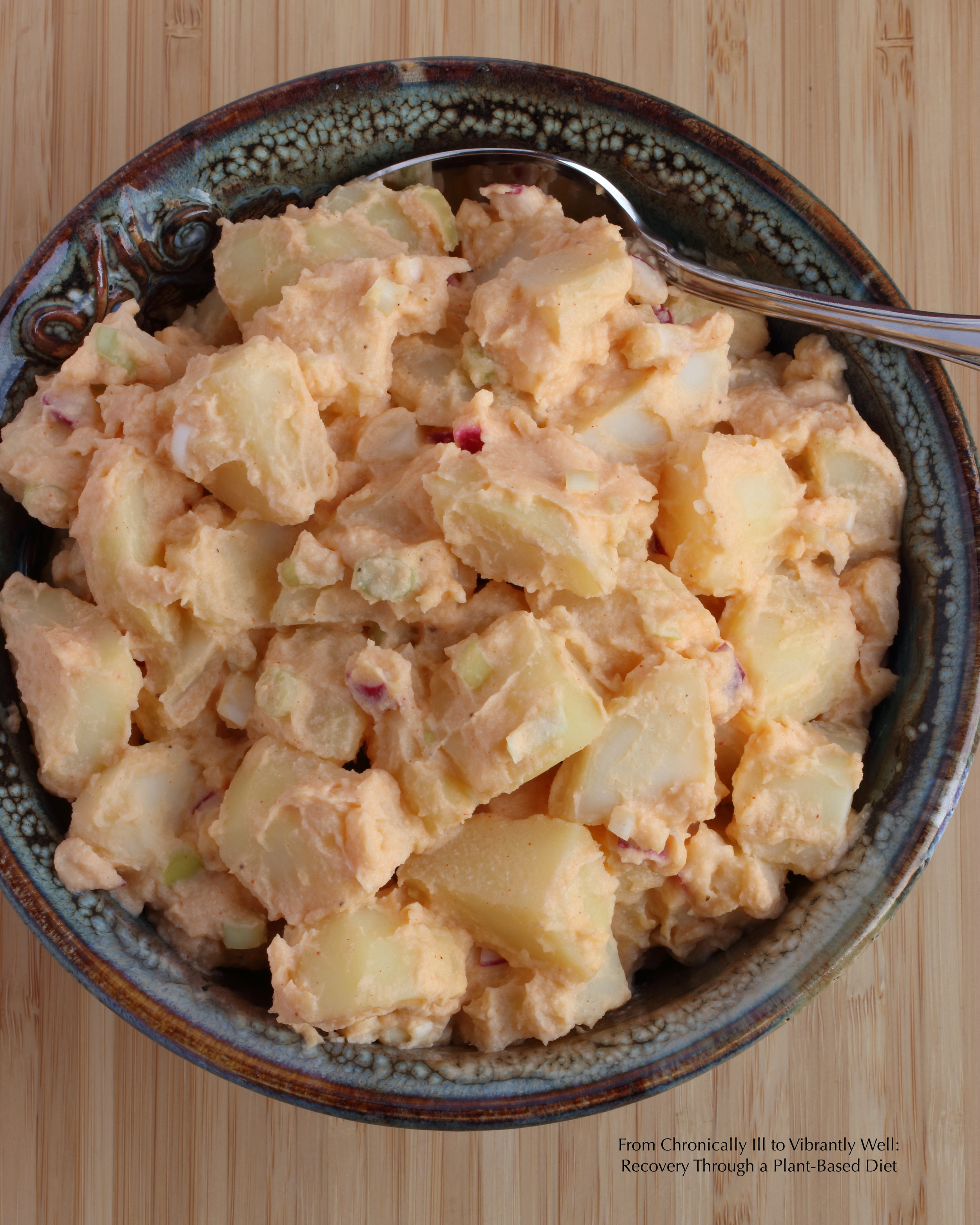 Red Potato Salad with Cauliflower Dressing