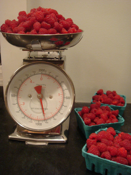Getting ready to make jam