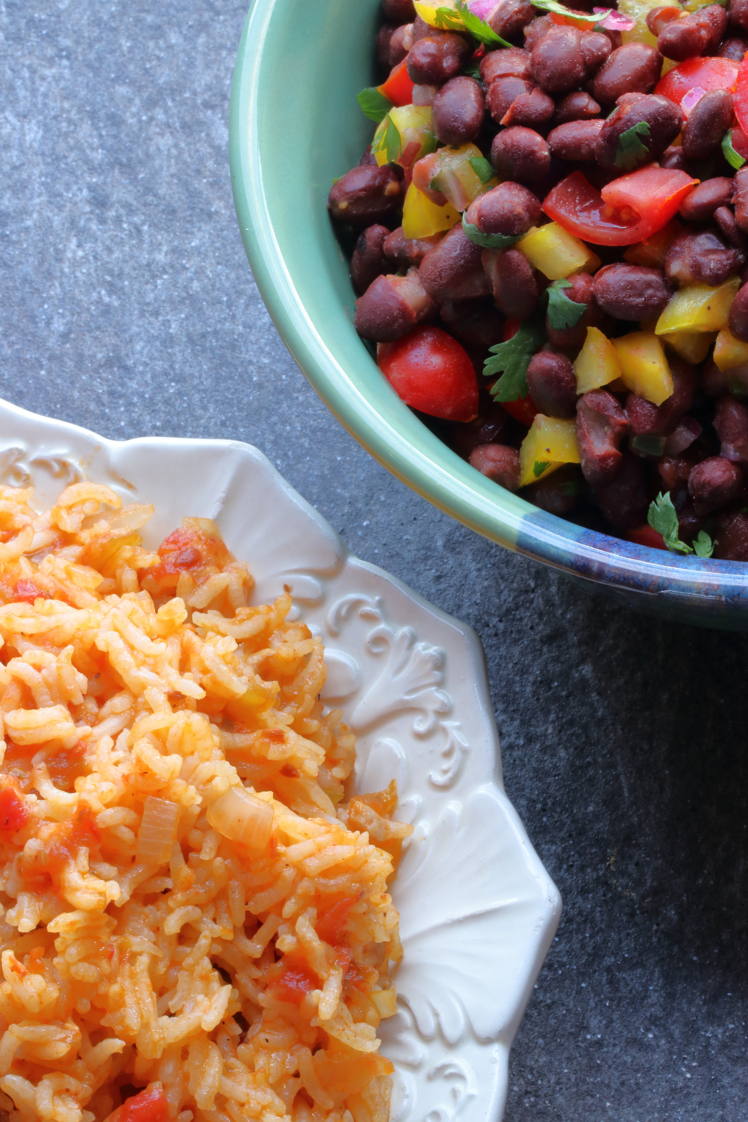 Black Bean Salad and Arroz Rojo.JPG