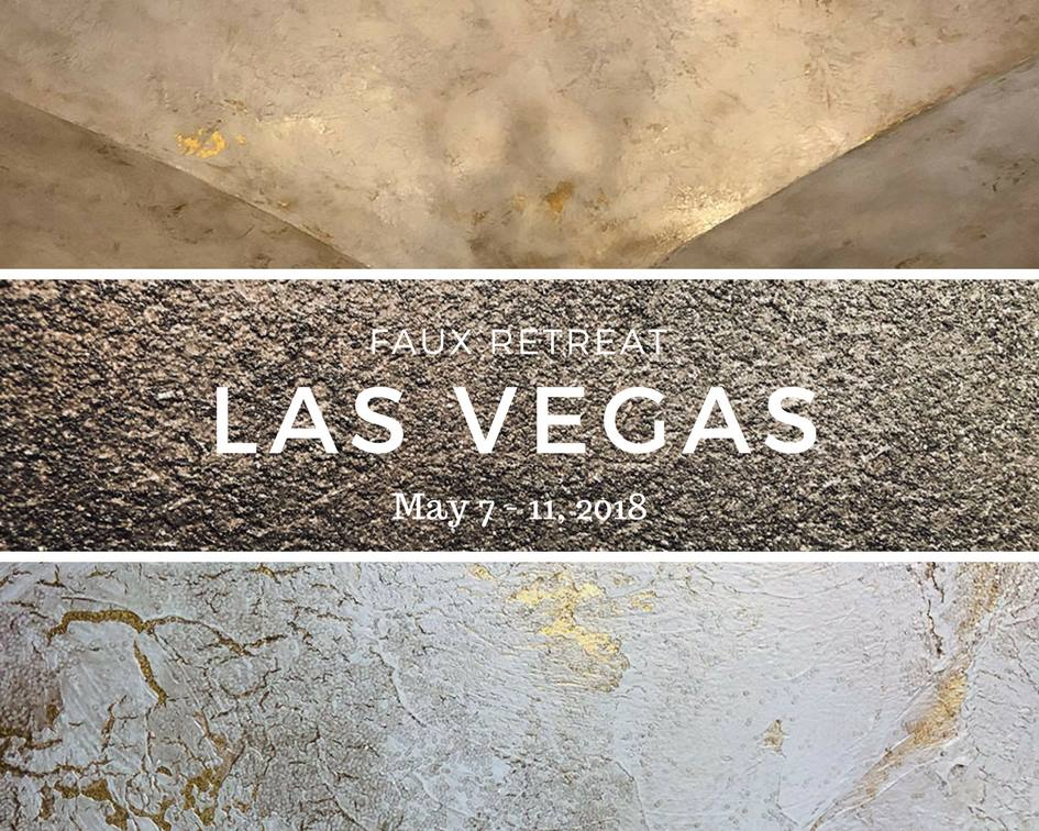Faux Retreat LAS VEGAS is May 7-11, 2018! I have more than 10 samples that I will be teaching and you do not want to miss this week of fun and learning! If you are wanting to expand your portfolio and offer flexible and interchangeable designs to your clients, then this is the class for you!  Attendees will stay in a large private residence very close to the Strip. Tuition includes lodging, food, class registration. You will also receive a COMPLIMENTARY pass to the National Hardware Show!  So go sign up today and make an entire vacation out of it! You'll have time to experience Vegas and learn your craft at our retreat! Check out my FACEBOOK page to see more samples and projects we will cover in the class!  Spaces are limited so hurry over to www.fauxretreat.com and register today!  See you there!