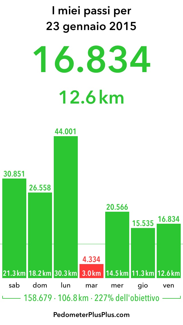I miei passi dallo scorso sabato ad oggi My steps from last saturday to this evening