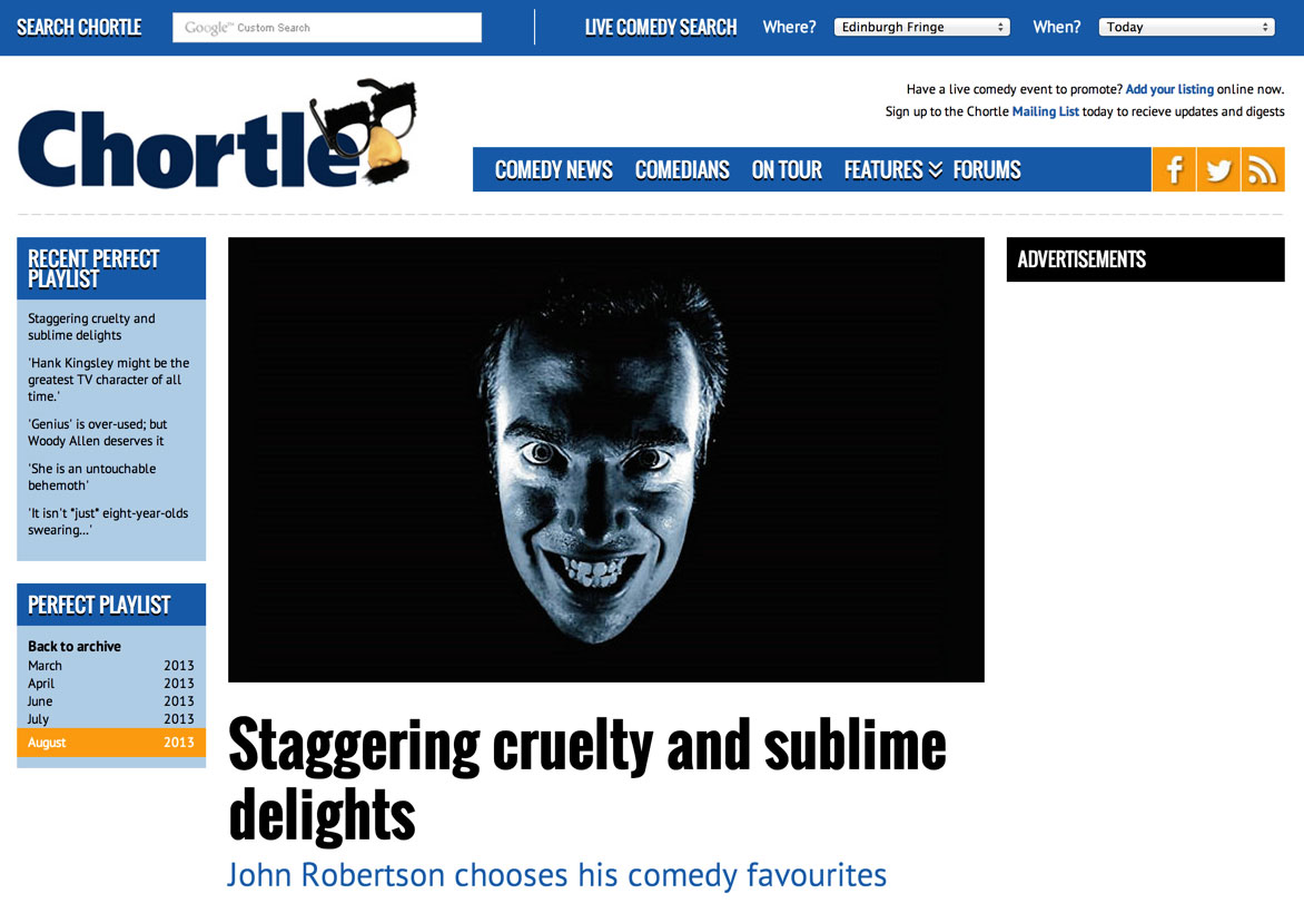 John Robertson interview on Chortle.co.uk