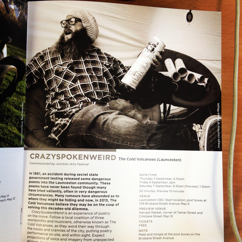 CRAZYSPOKENWEIRD - Junction Art Program 2013