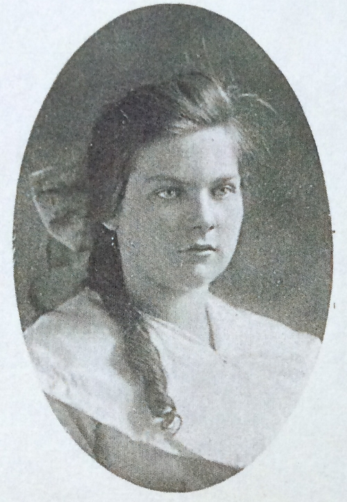 My grandmother, Miriam Kathleen Brown Harbaugh. Portrait from her 1920 Smithsburg Maryland High School Yearbook, when she was a Junior.