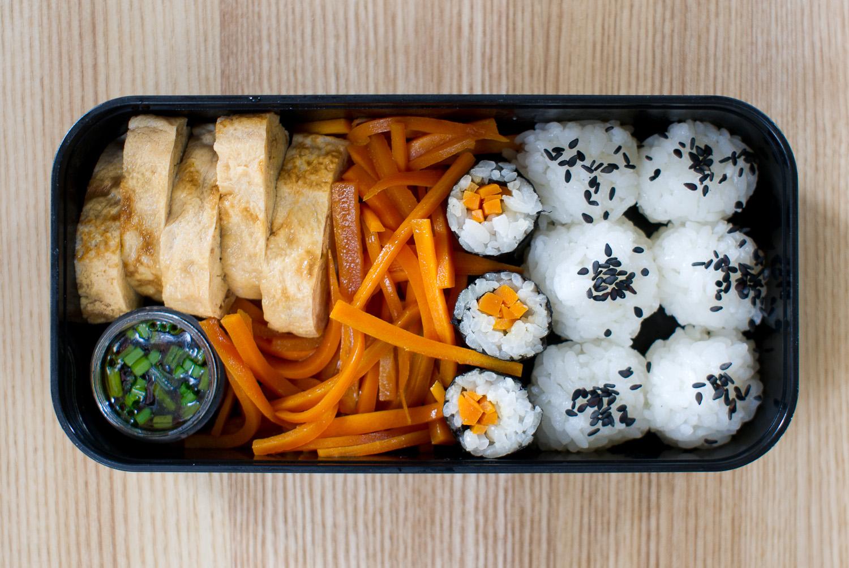 leftovers from sushi night and tamagoyaki