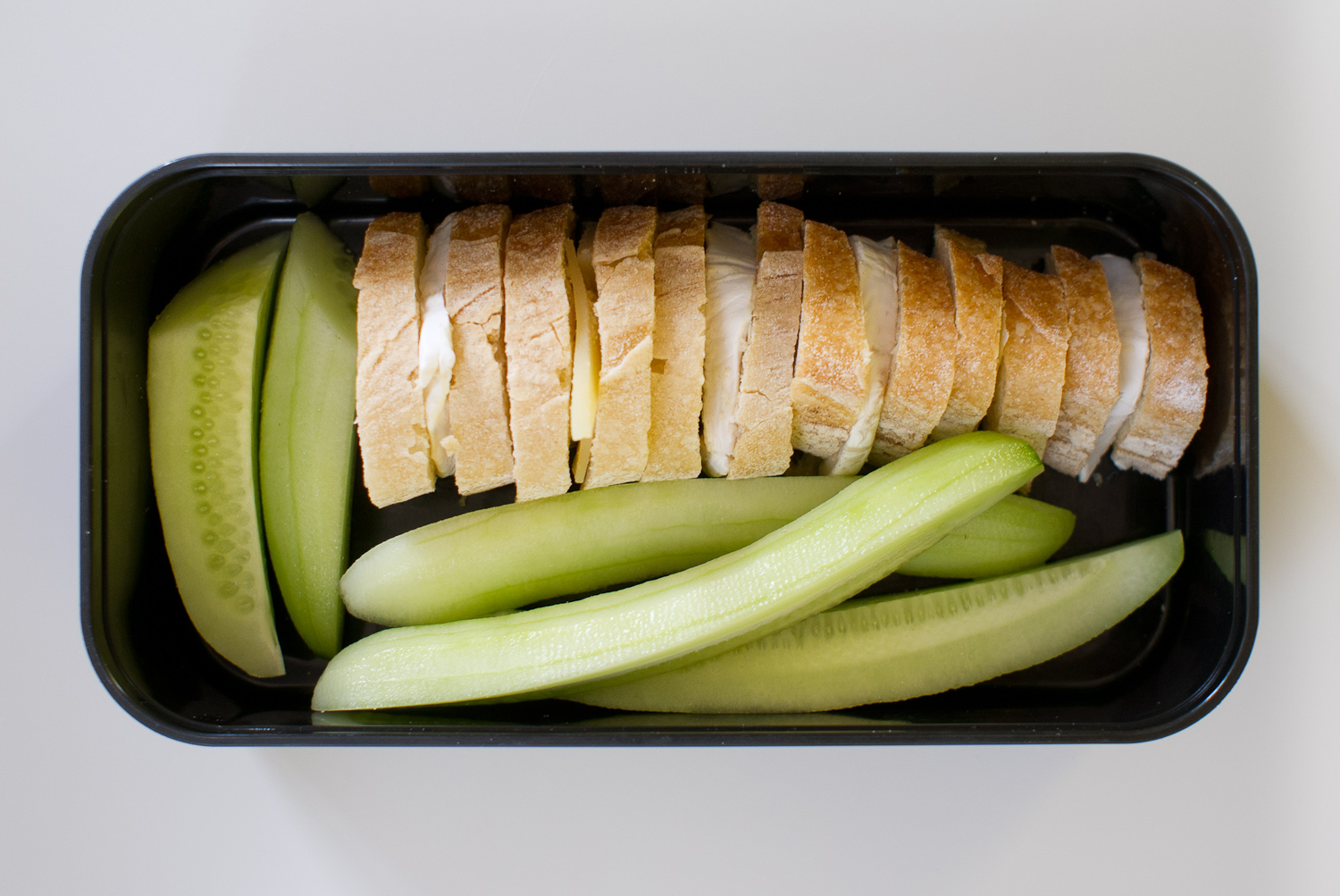 cheese sandwiches and cucumber