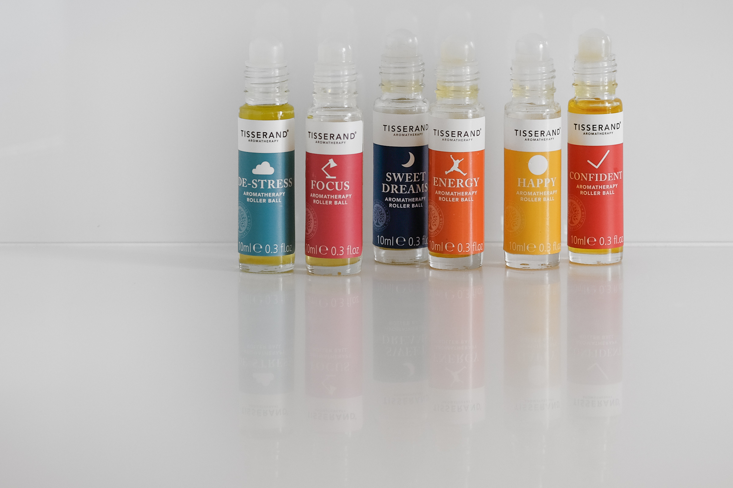 A selection of aromatherapy blends by London-based company Tisserand.