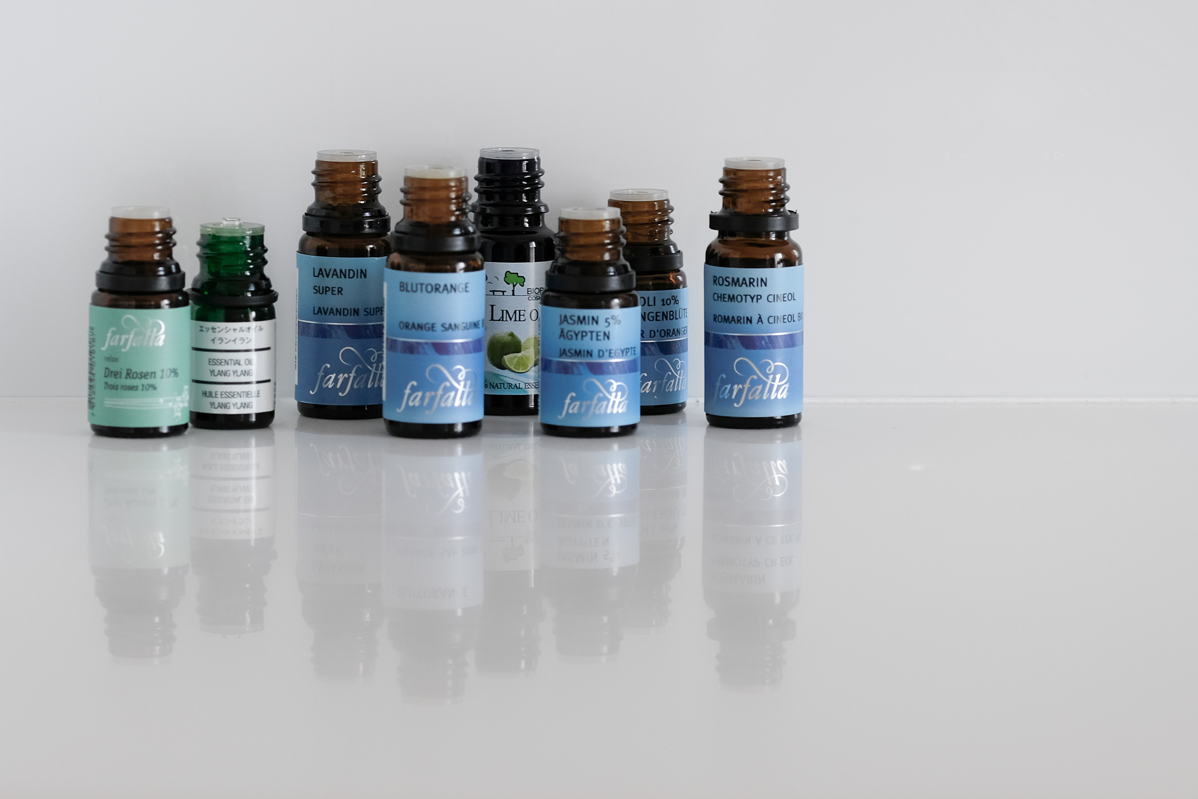 Essential oils are like pigments that combine to form new colors, which in turn can be used to create works of art.