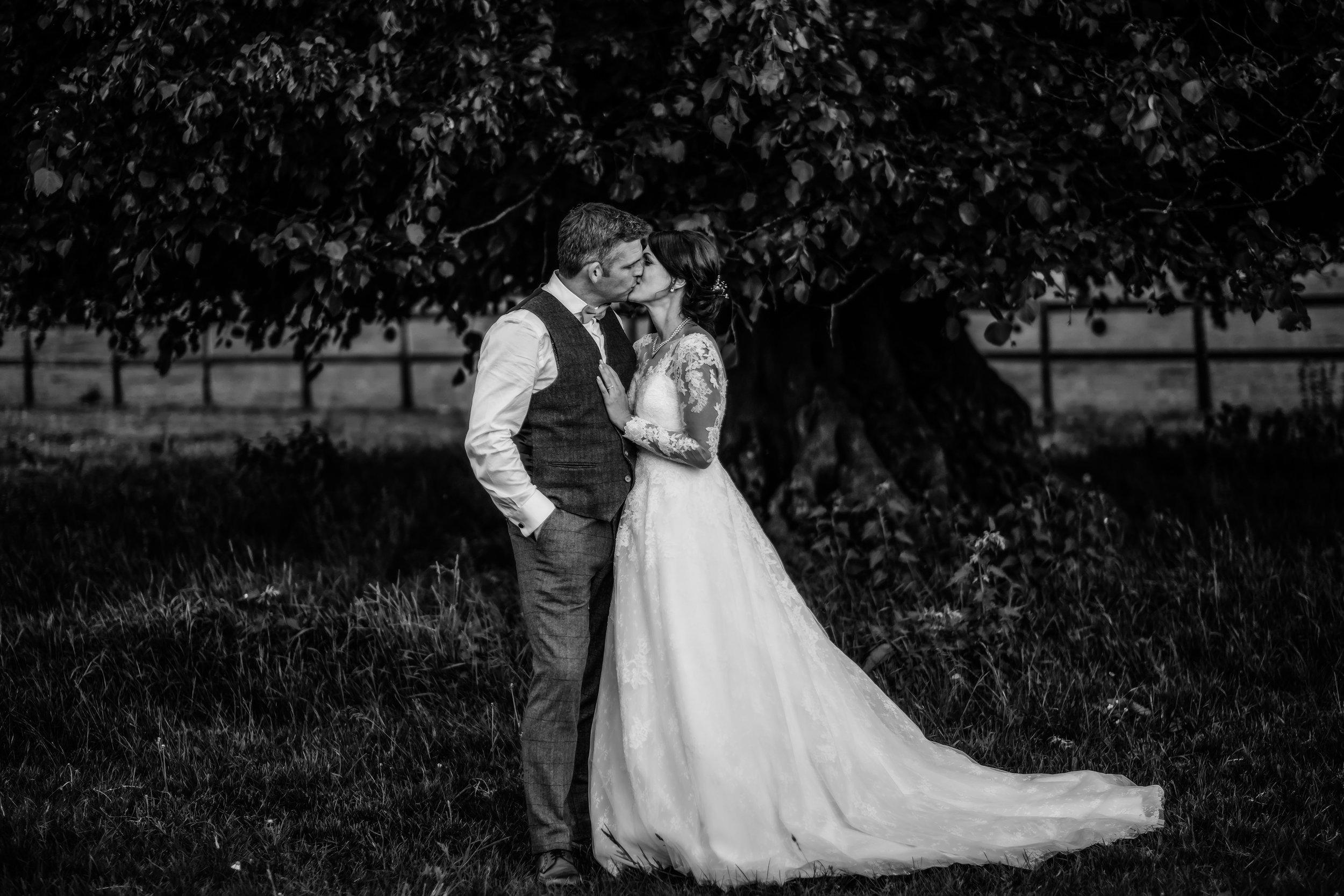 Beautiful Bride and Groom at Downton - Barford Park Barn