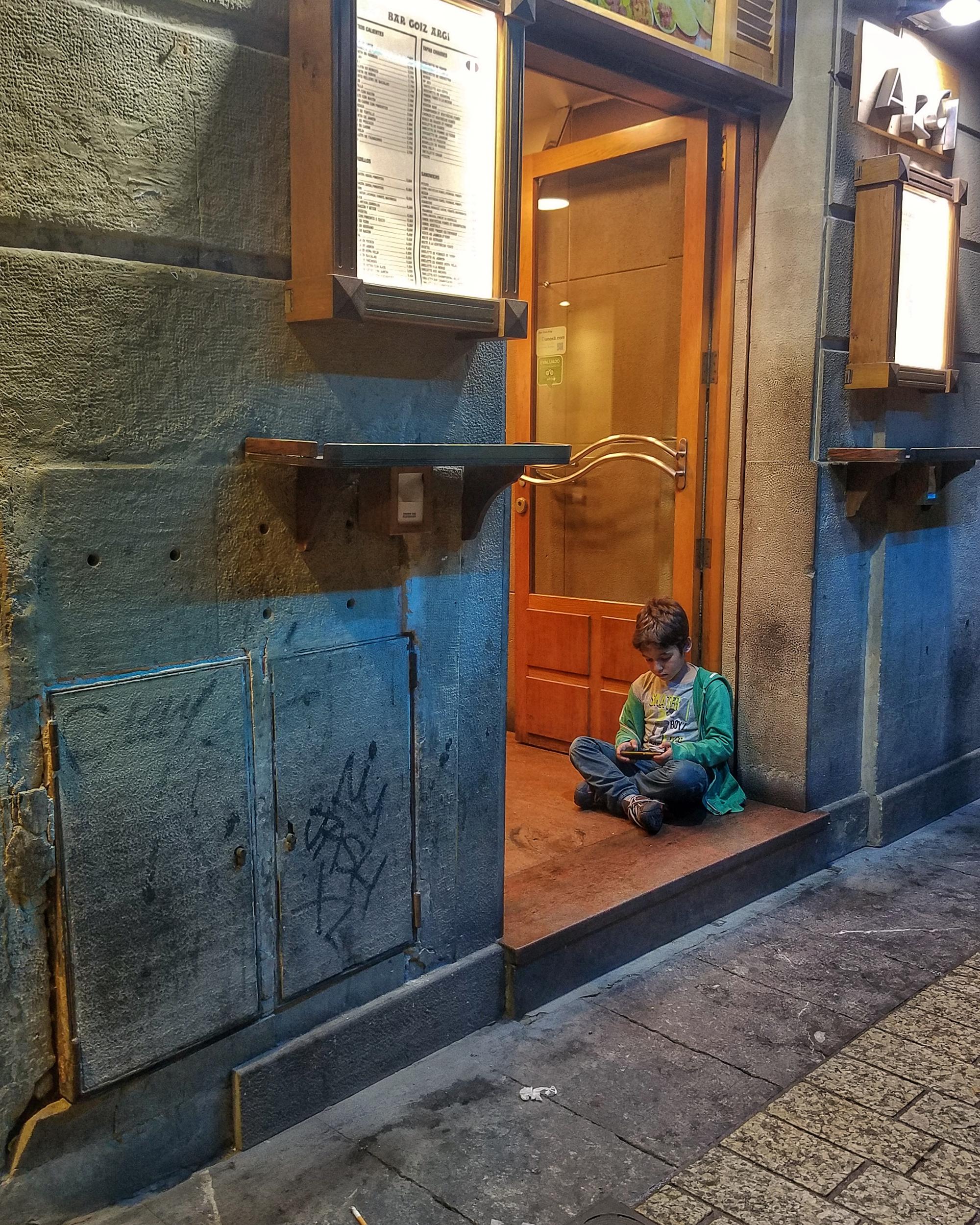 Boy With Book in San Sebastian