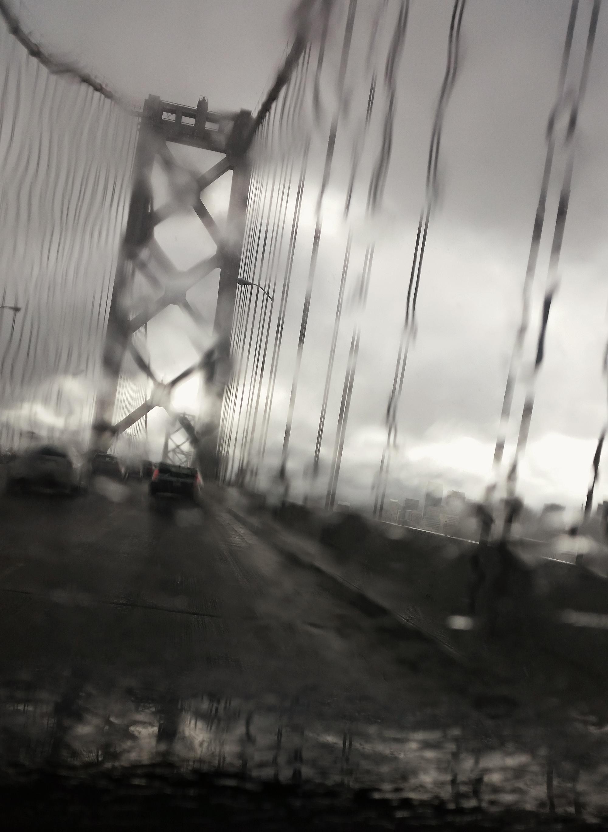 Bay Bridge, Rainy Windshield