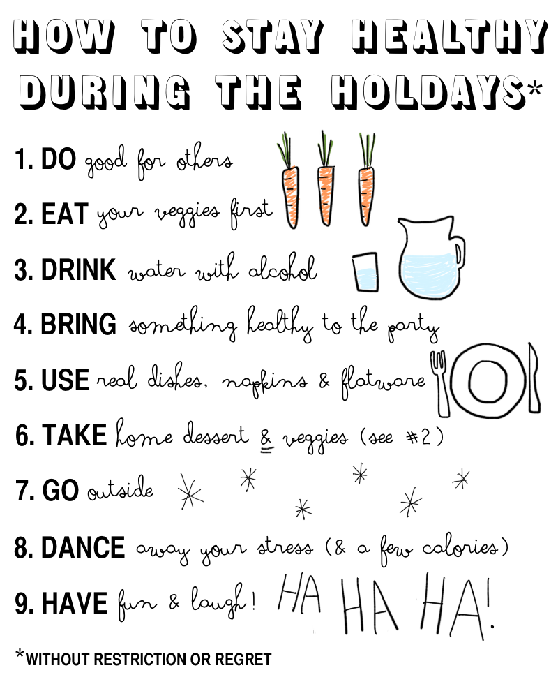 How to Stay Healthy During the Holidays (Without Restrictions or Regret) via thenotepasser.com