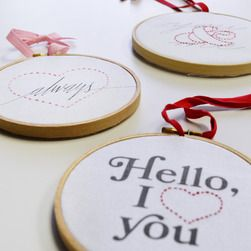 Sweetheart Embroidery Kit  $25