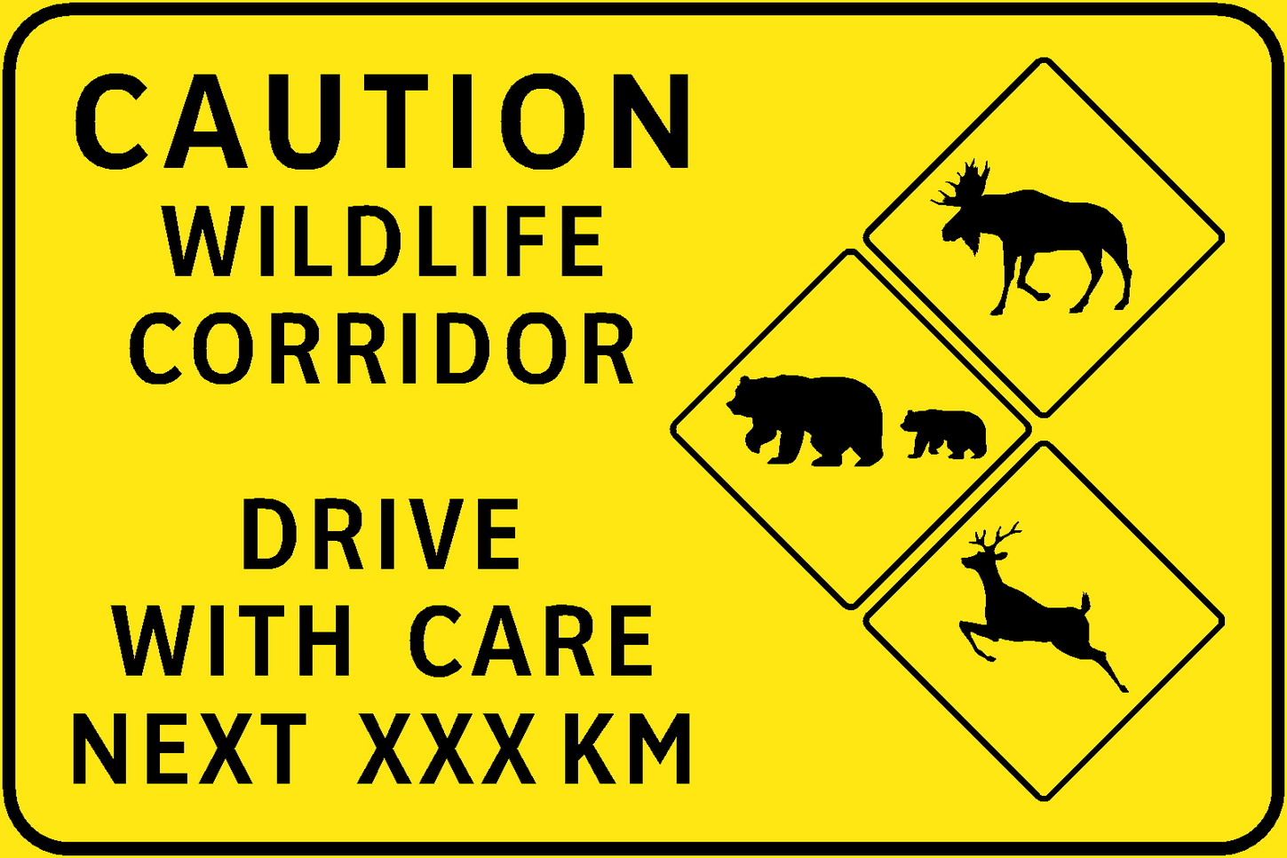 Take it up a notch? The British Columbia Ministry of Transportation recently started to add signs warning motorists when they are likely to encounter wildlife.  British Columbia Ministry of Transportation ,  CC BY-NC-ND