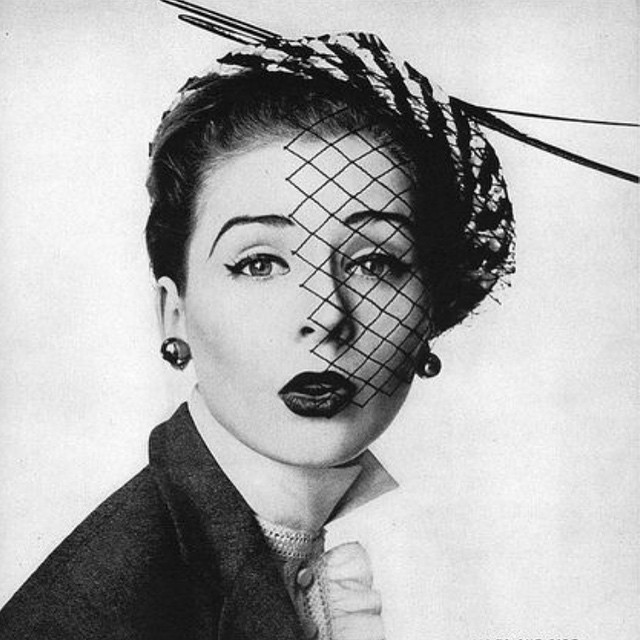 To veil or not to veil.   A consise choice for the indecisive.    Vintage Hat Inspiration #tbt by #MrJohn 1952    ______________________________________  #vintagehat #vintagestyle #veiling #veil #hat #fascinator #1950s #50s #vintage #unahats