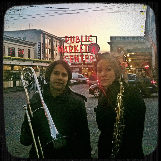 The Syrinx Effect, with Naomi Siegel (left) and Kate Olson (right).