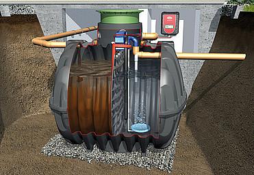 SBR wastewater treatment system Klaro E Professional one-reservoir system