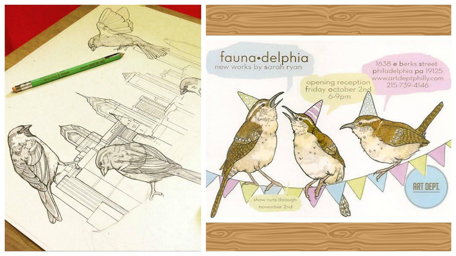 Sarah Ryan: Faunadelphia - featured exhibition at The Art Department in Philadelphia, PA.