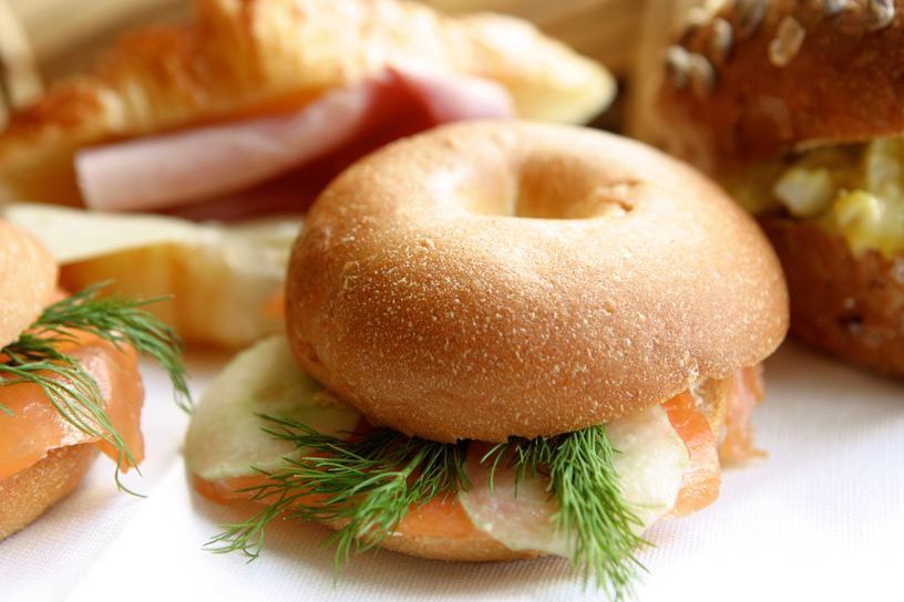 Breakfast Bagels - Alistair Hugo Catering and Events