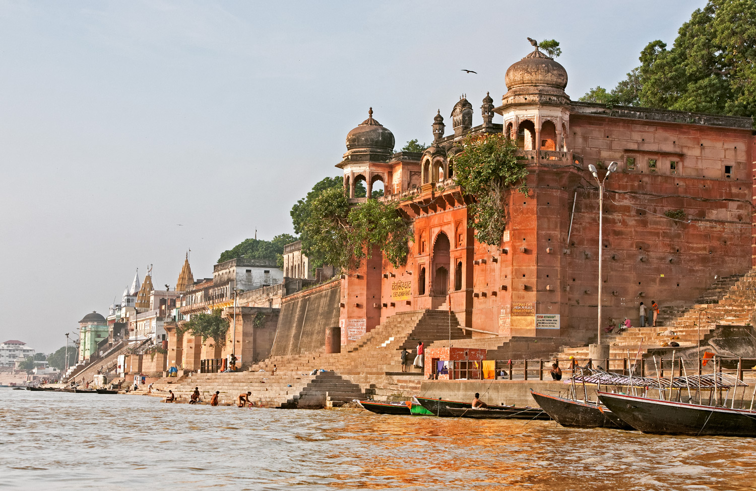 Old palace on the ghats, Varanasi, India