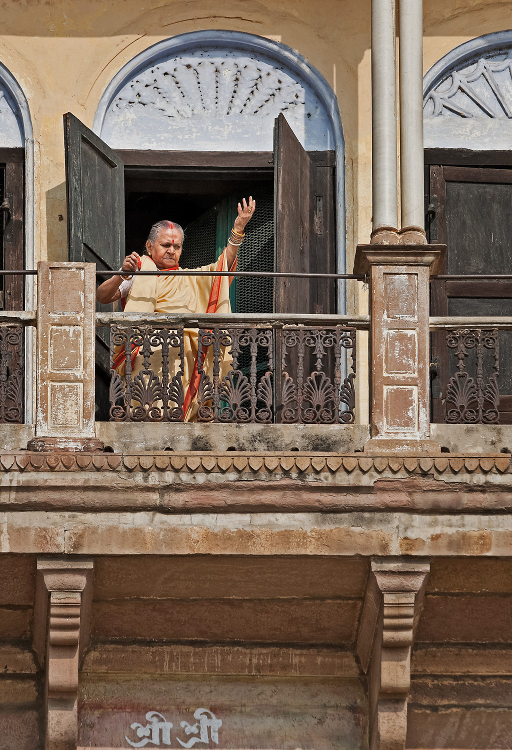 Morning prayer, Varanasi, India