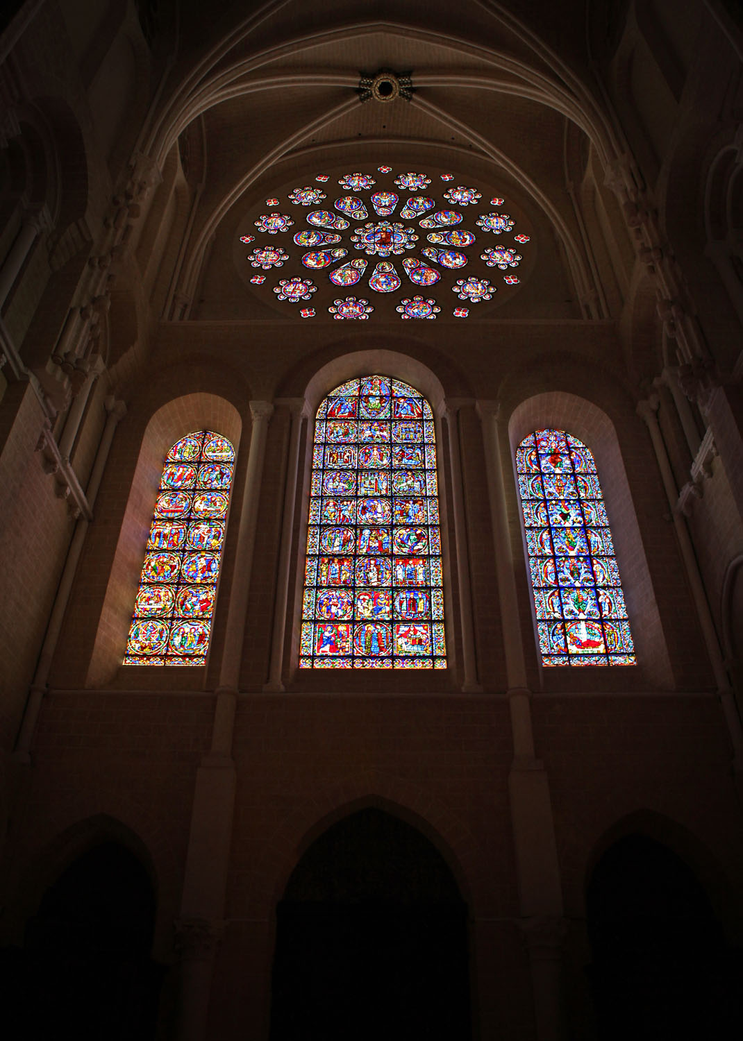West Rose Window, Chartres Cathedral, Chartres, France
