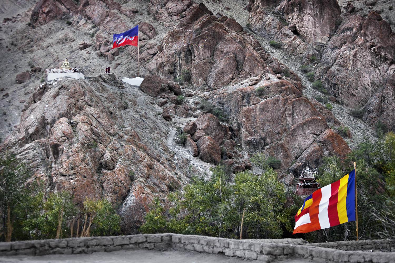 Flags, Hemis Monastery, Ladakh, India