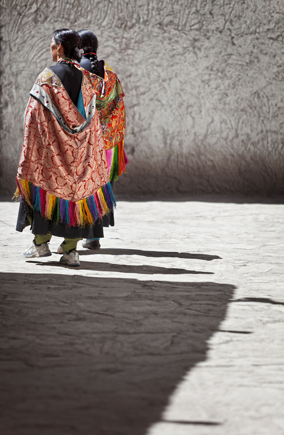 Caped women, Hemis Gompa, Ladakh, India